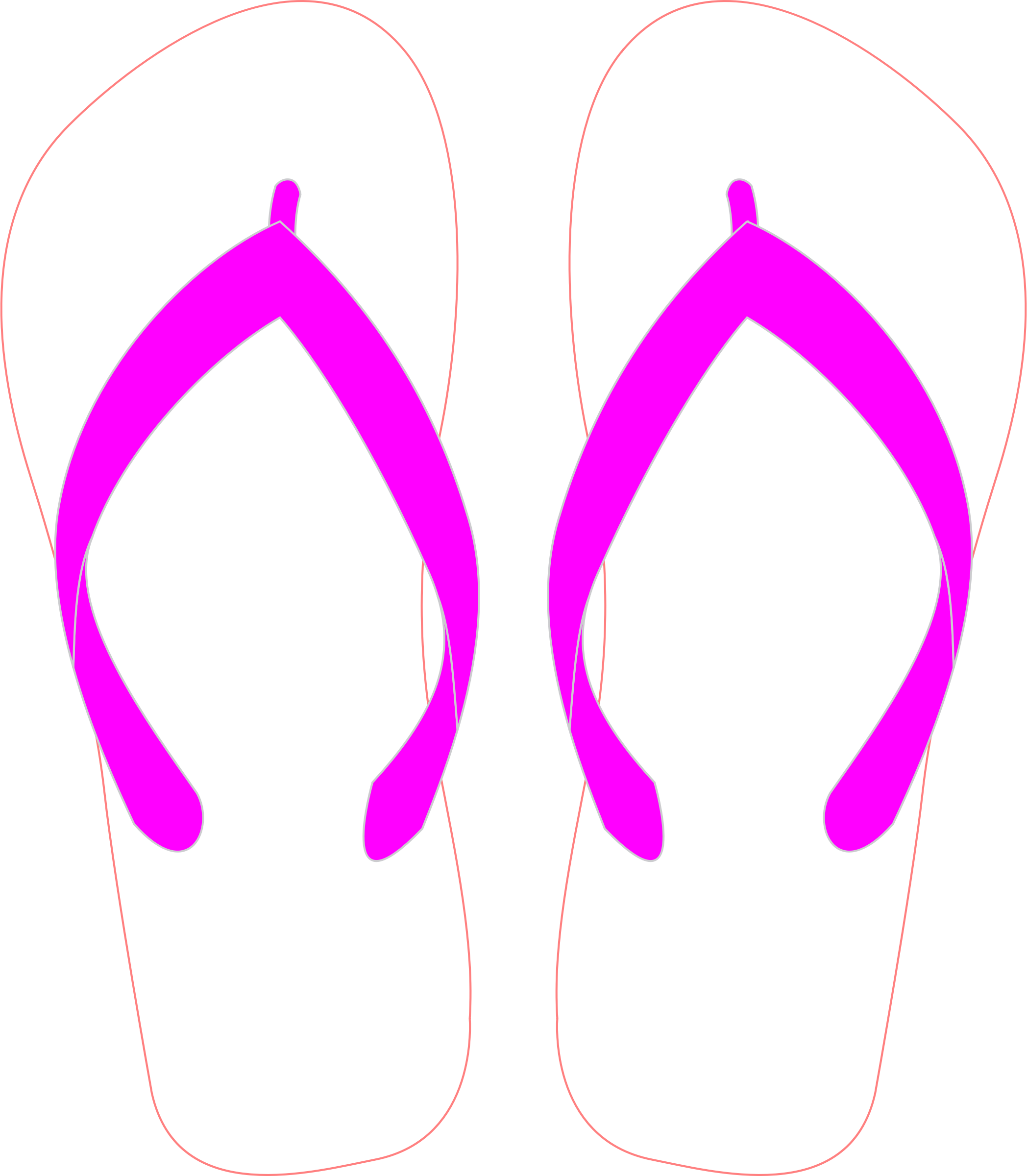 Flipflops with Pink Strap by SOlvera