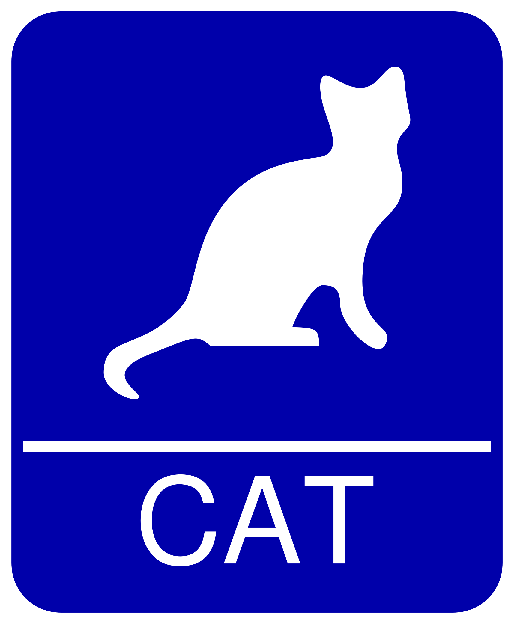 Cat Restroom Sign by MatthewHenninger