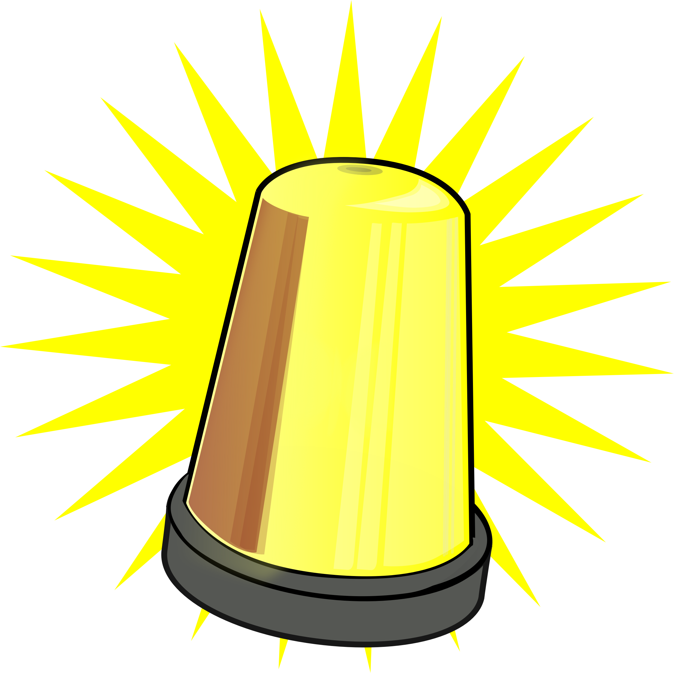 Yellow Signal Light by scenery