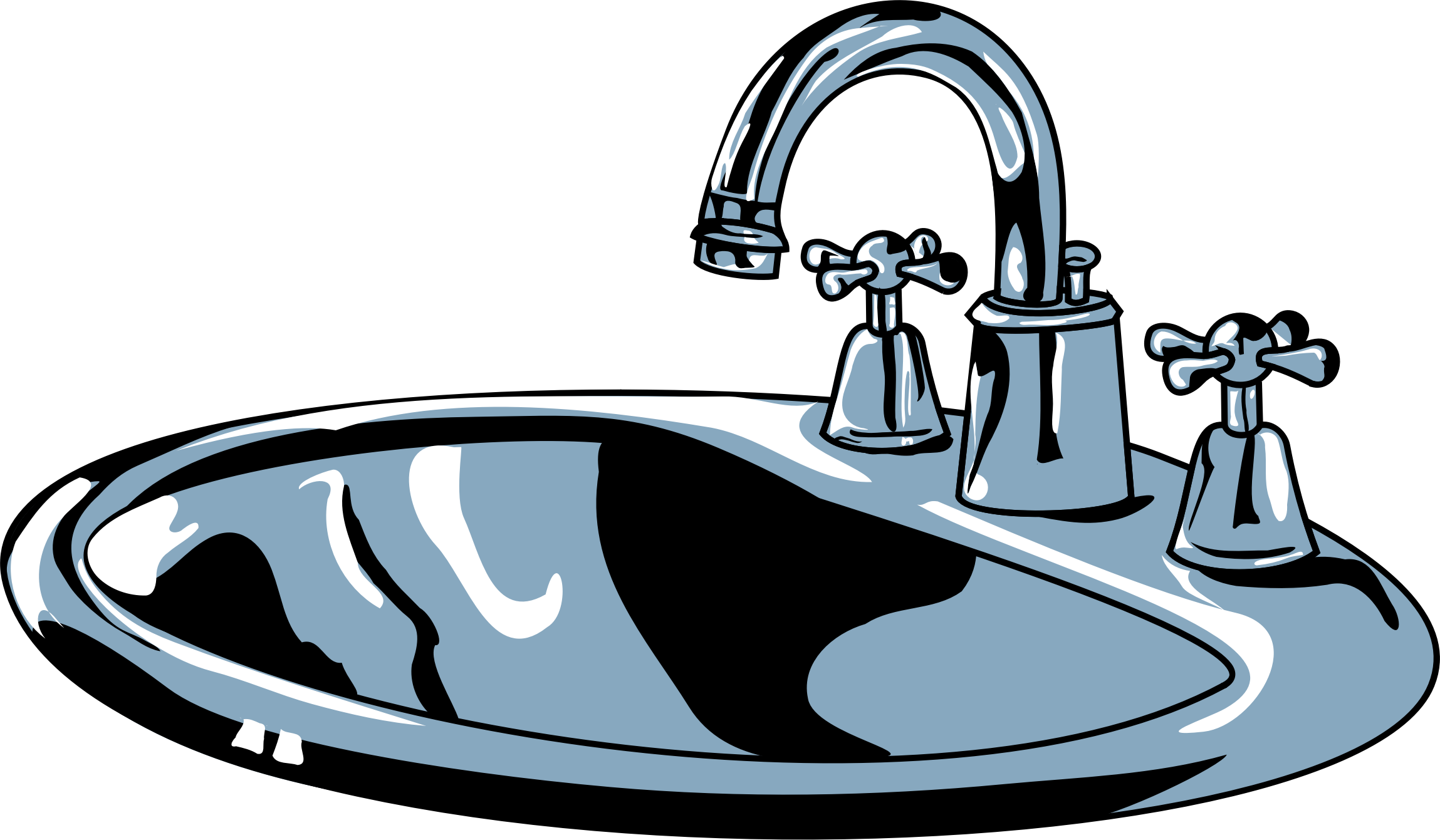 Clean bathroom sink clip art - Sink
