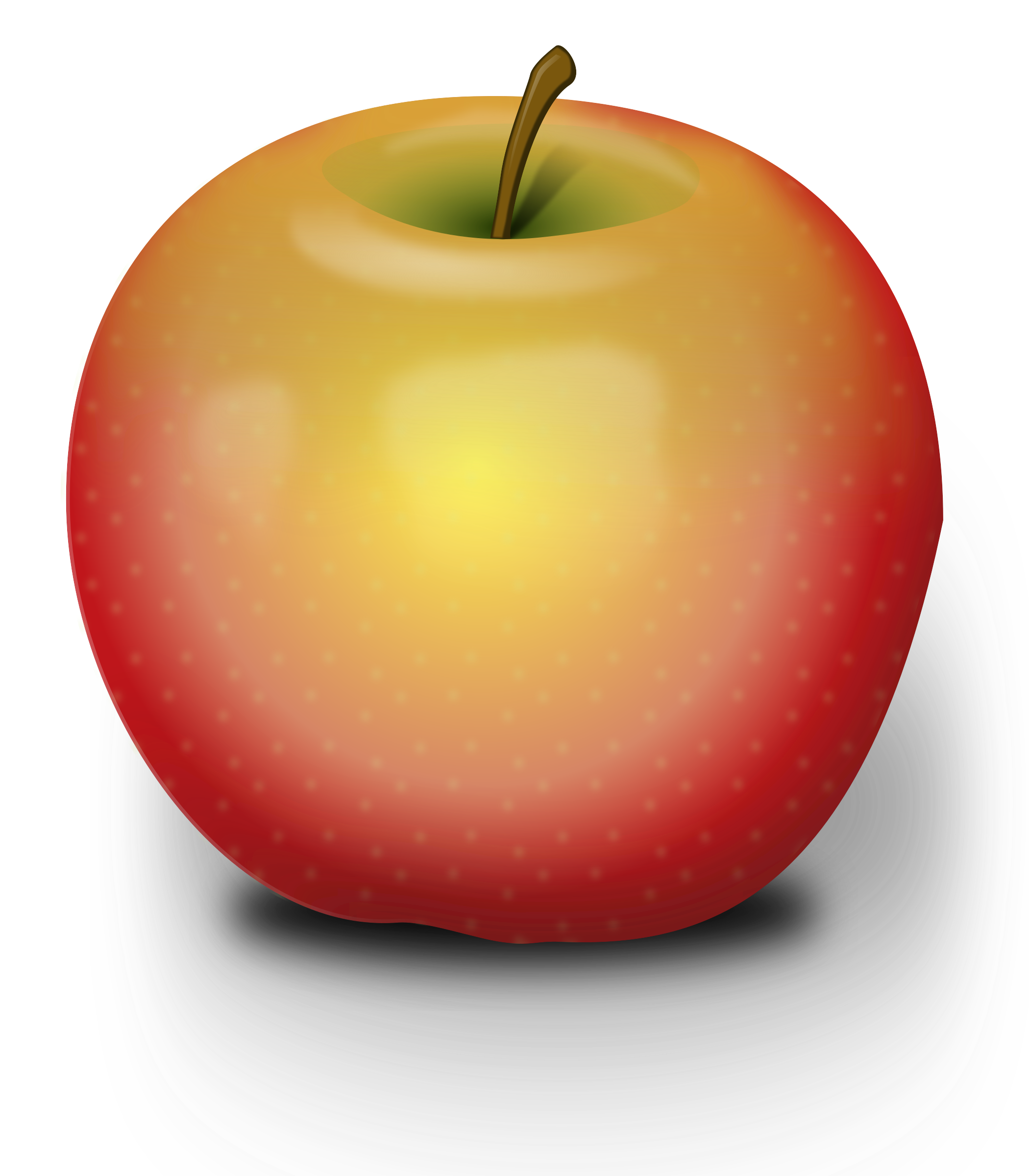 Photorealistic Red Apple by Peileppe