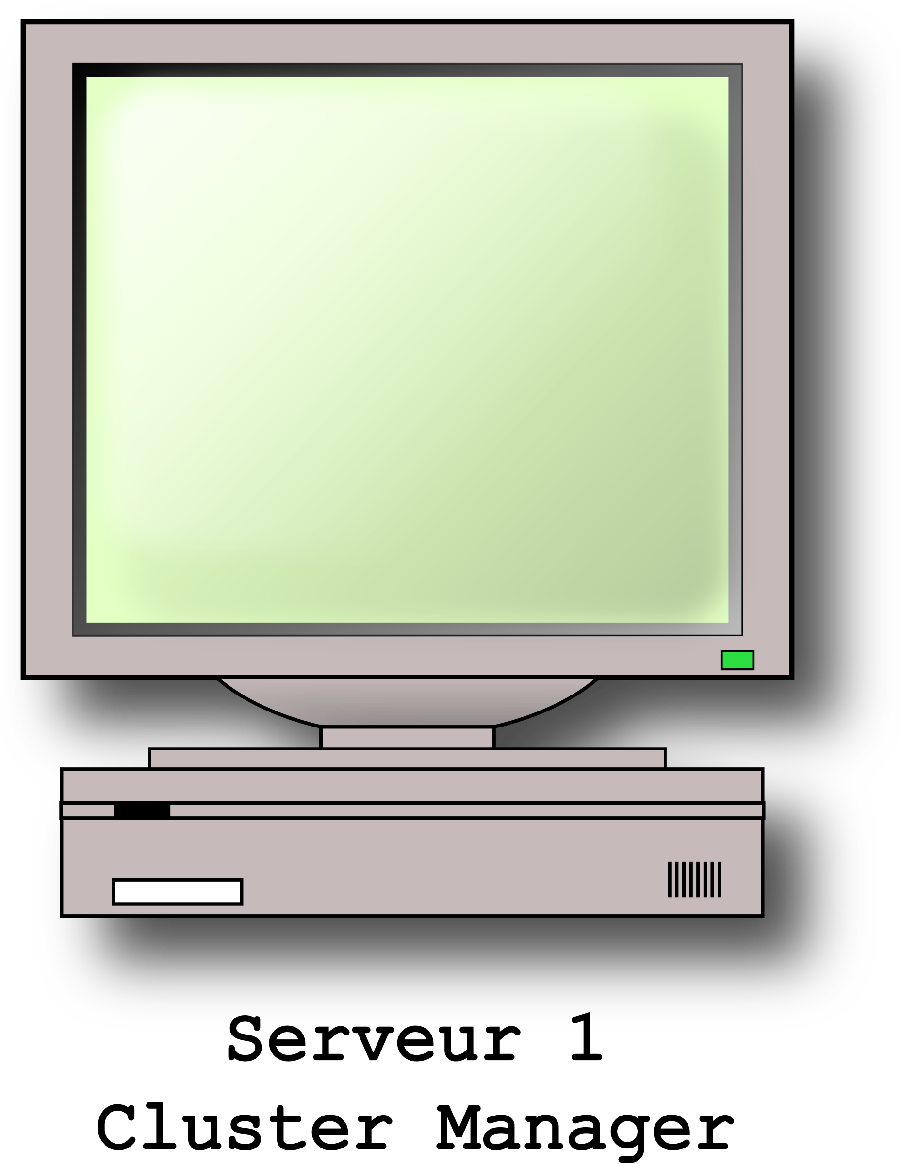 Server With Screen by kwaky