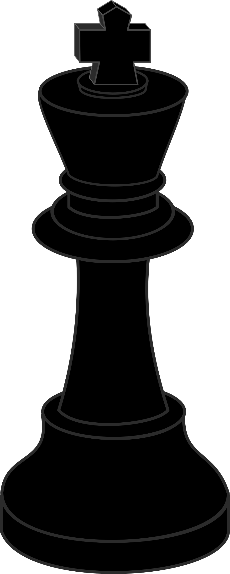 Clipart - Chess piece, black king