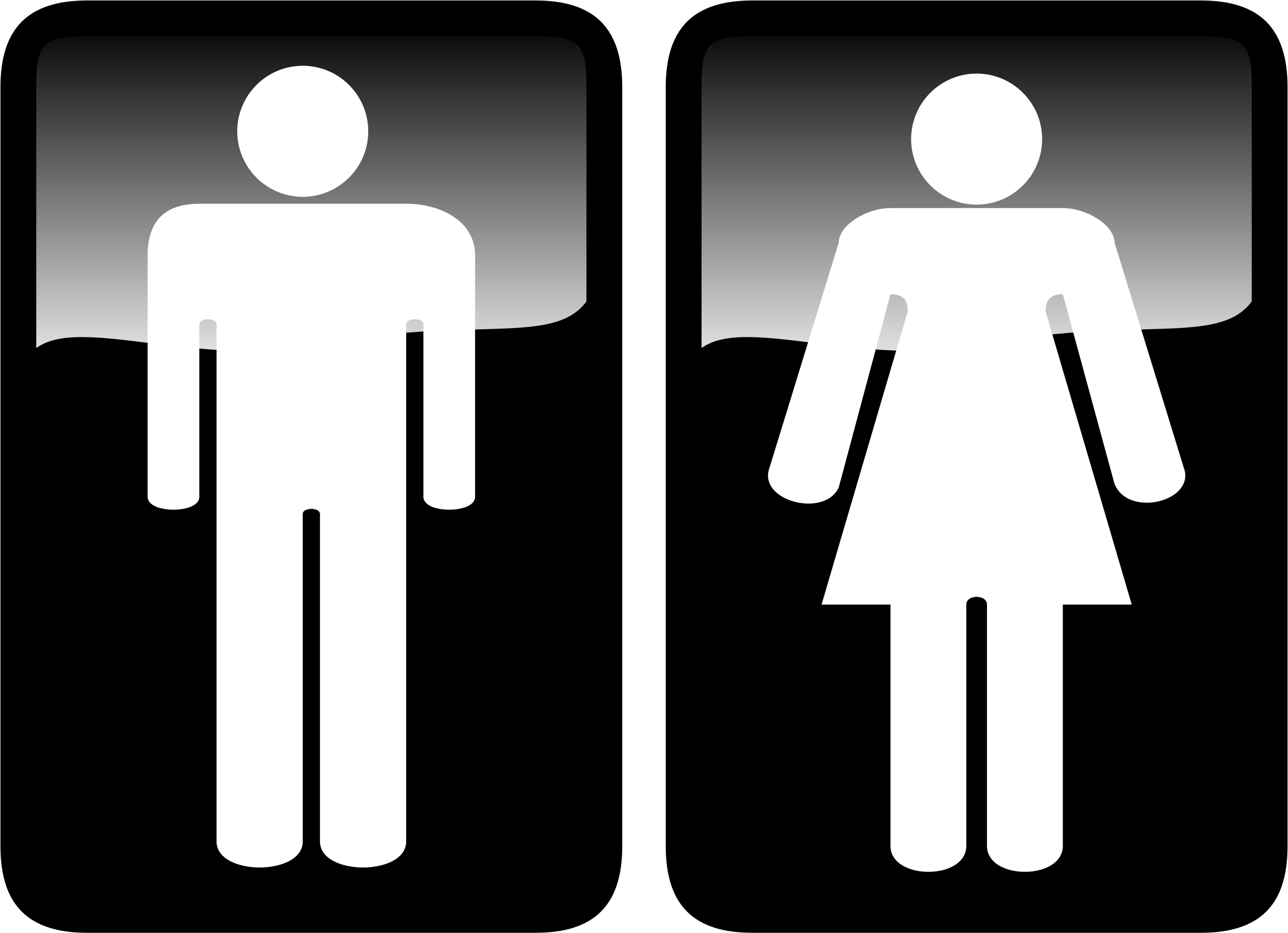 Toilet Signs. Clipart   Toilet Signs