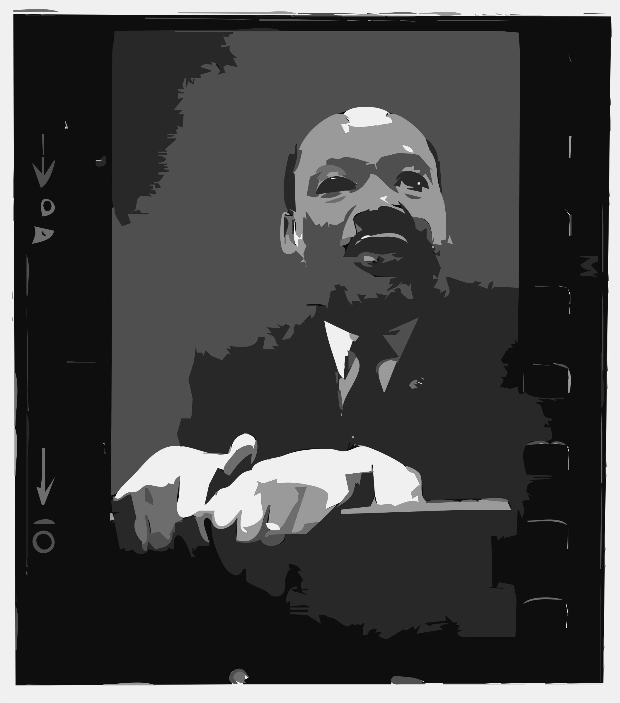 Martin Luther King, Jr at pulpit by rejon