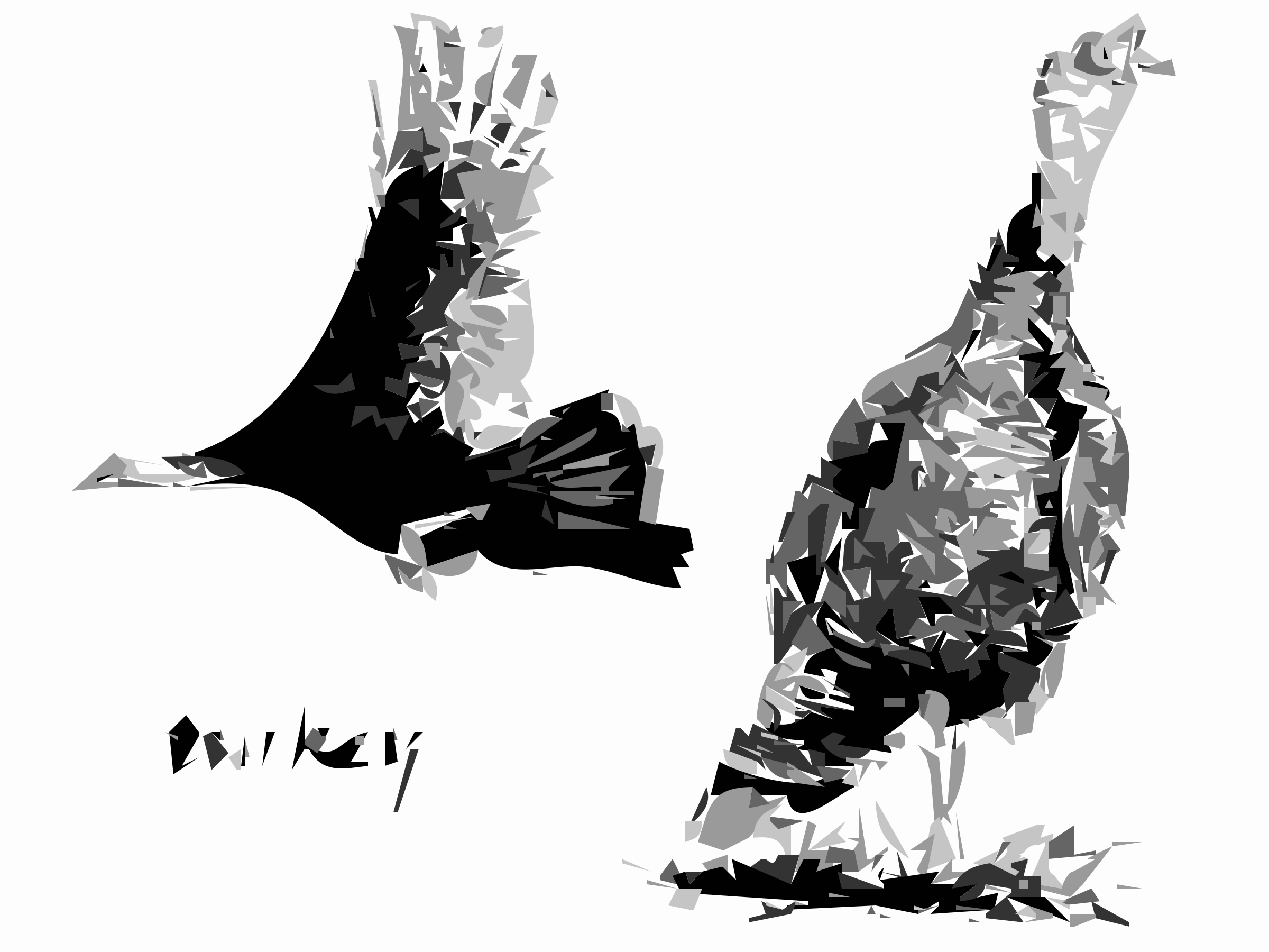 2 Turkey Birds by worldlabel
