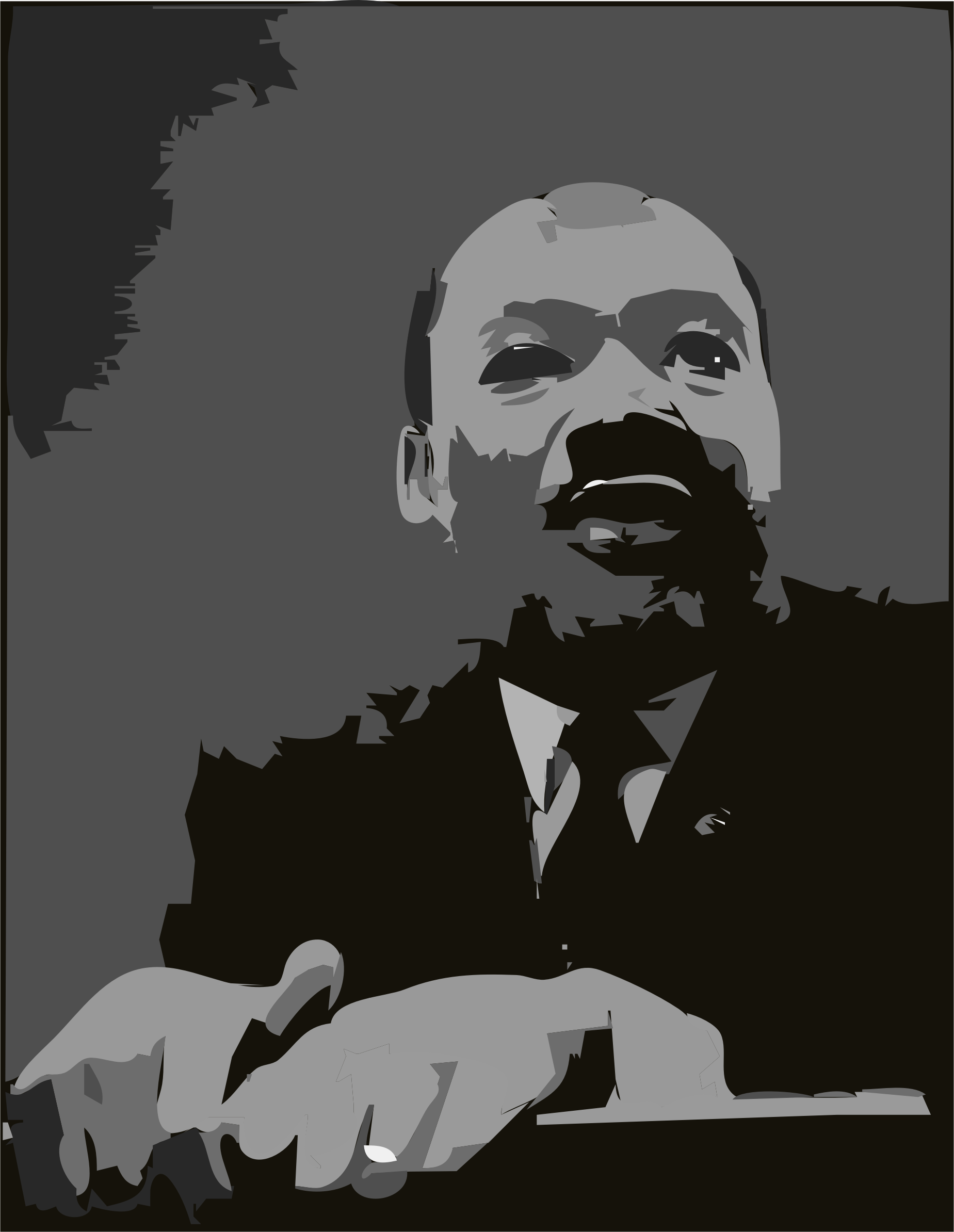 Martin Luther King Jr. at Pulpit by algotruneman