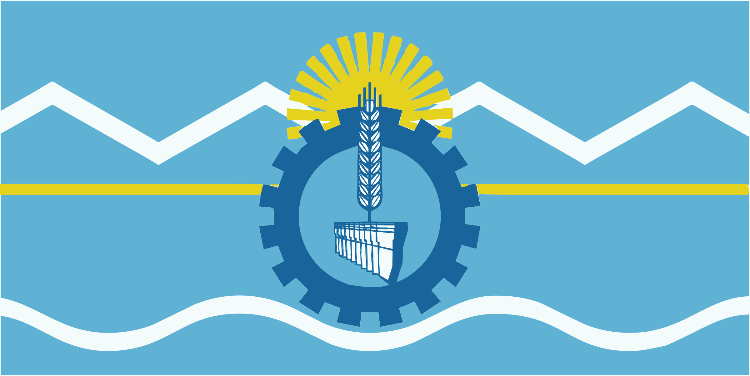 Flag of Chubut Province, Argentina by liftarn