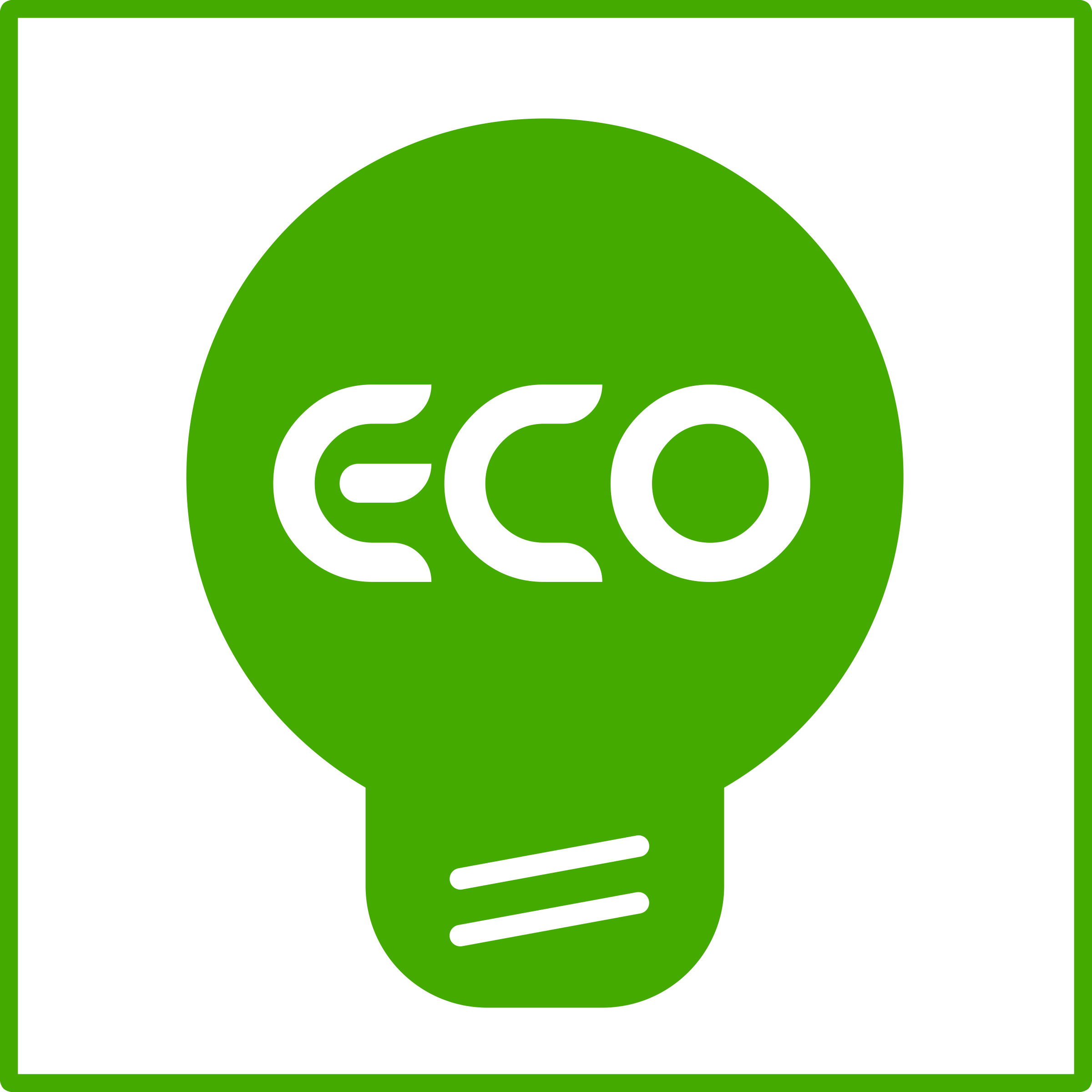Eco Light Bulb Green Icon