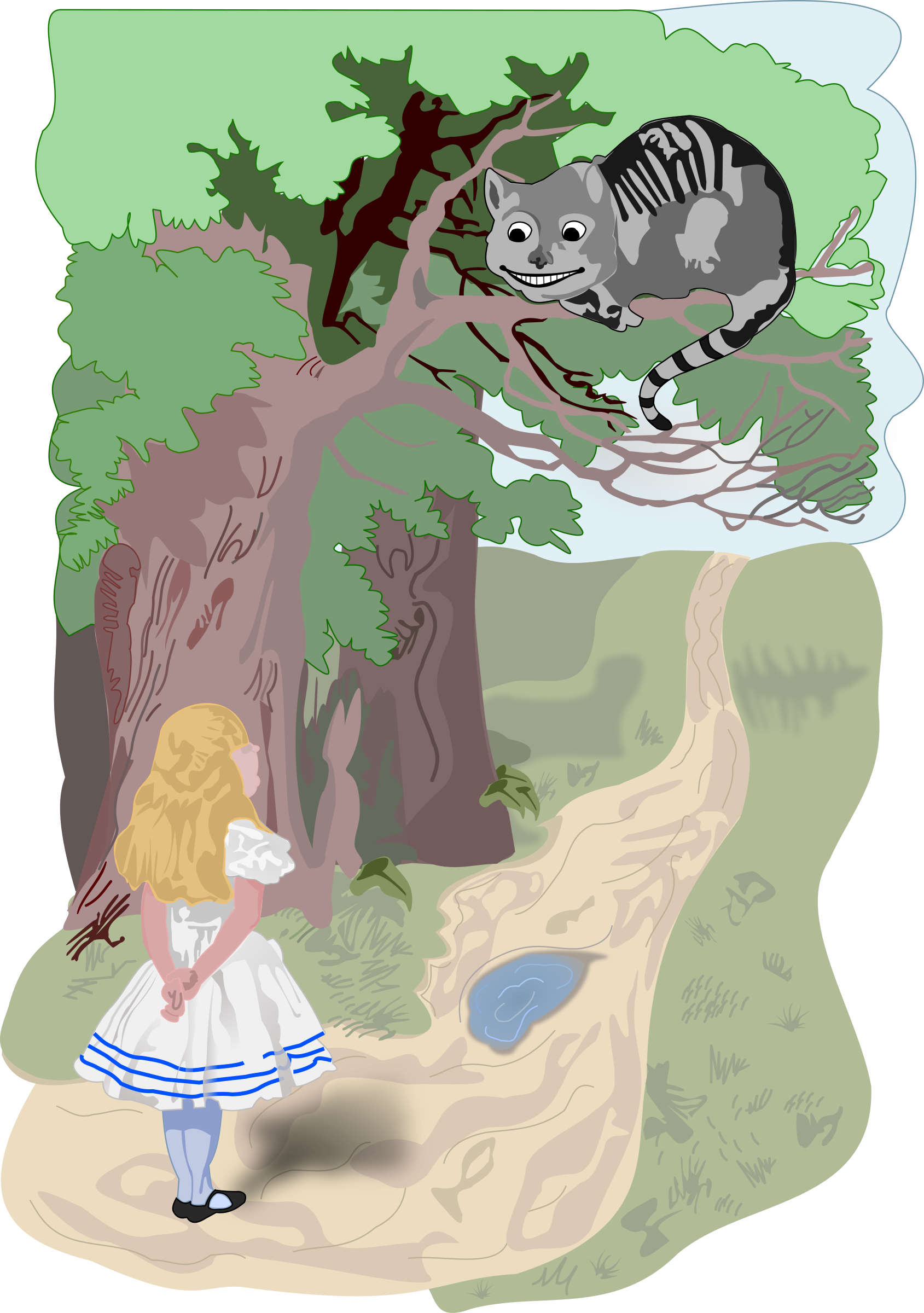 Alice and the Cheshire Cat by frankes