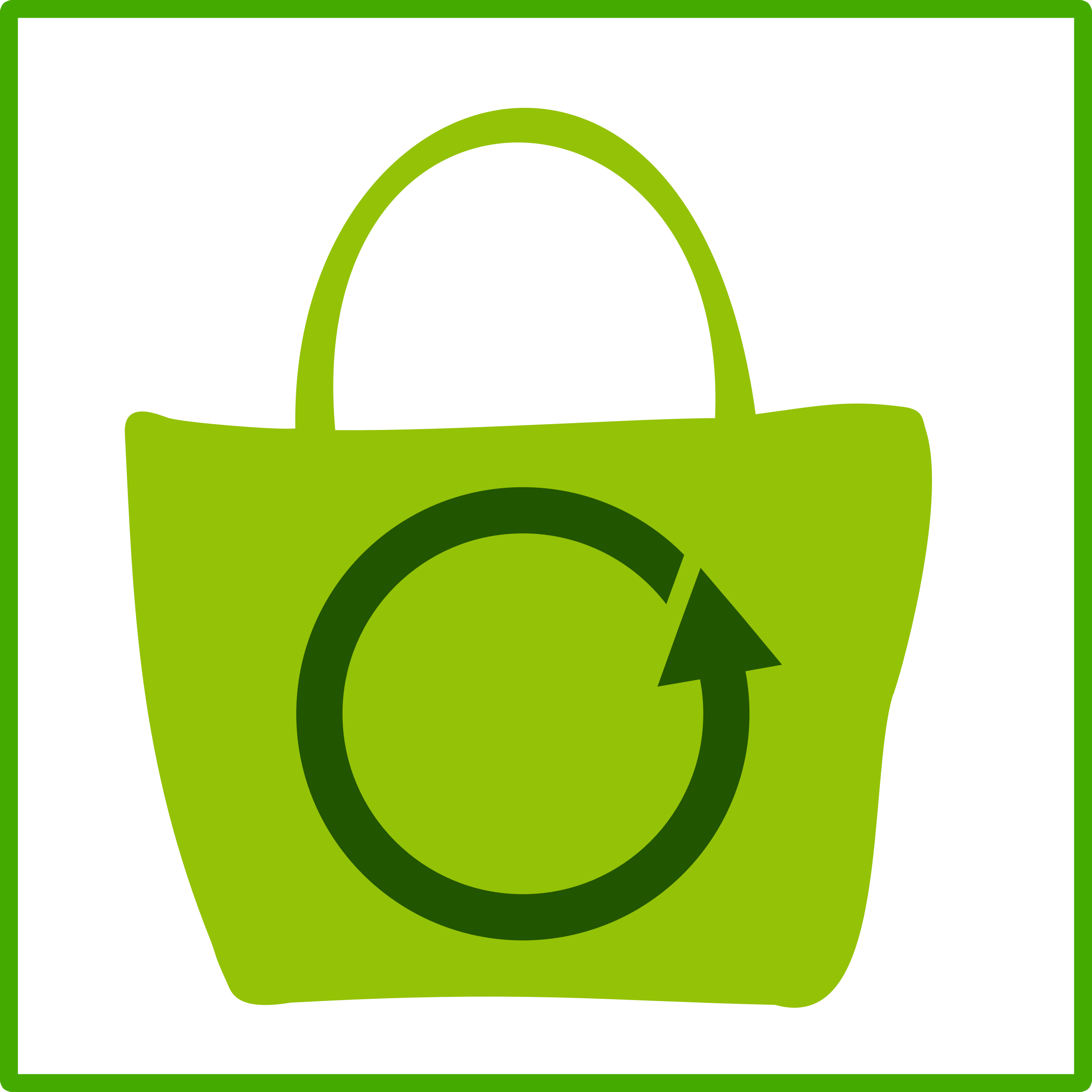 eco green shopping icon by dominiquechappard