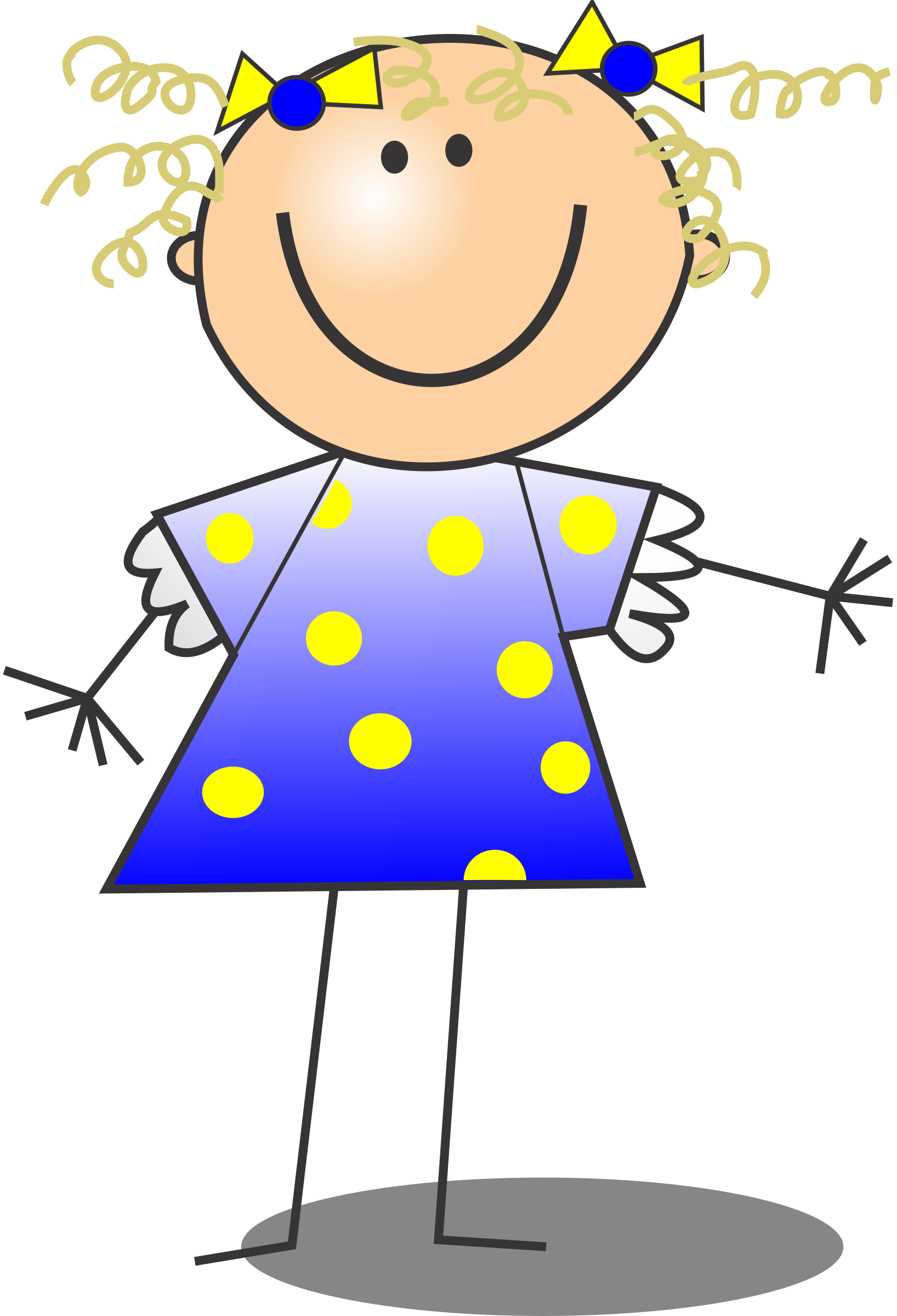 clip art curly hair girl - photo #44