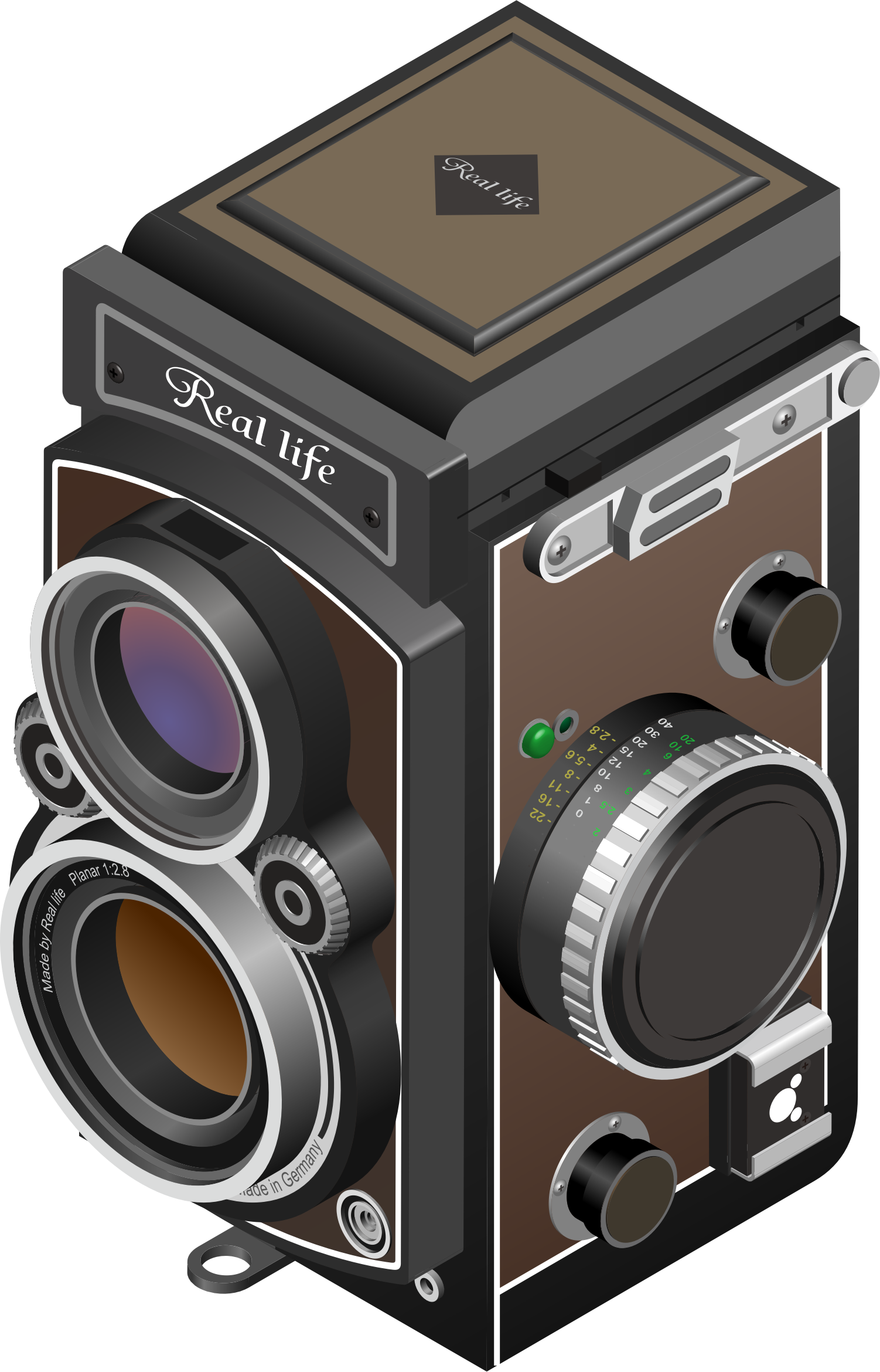 Twin-lens reflex camera by belier