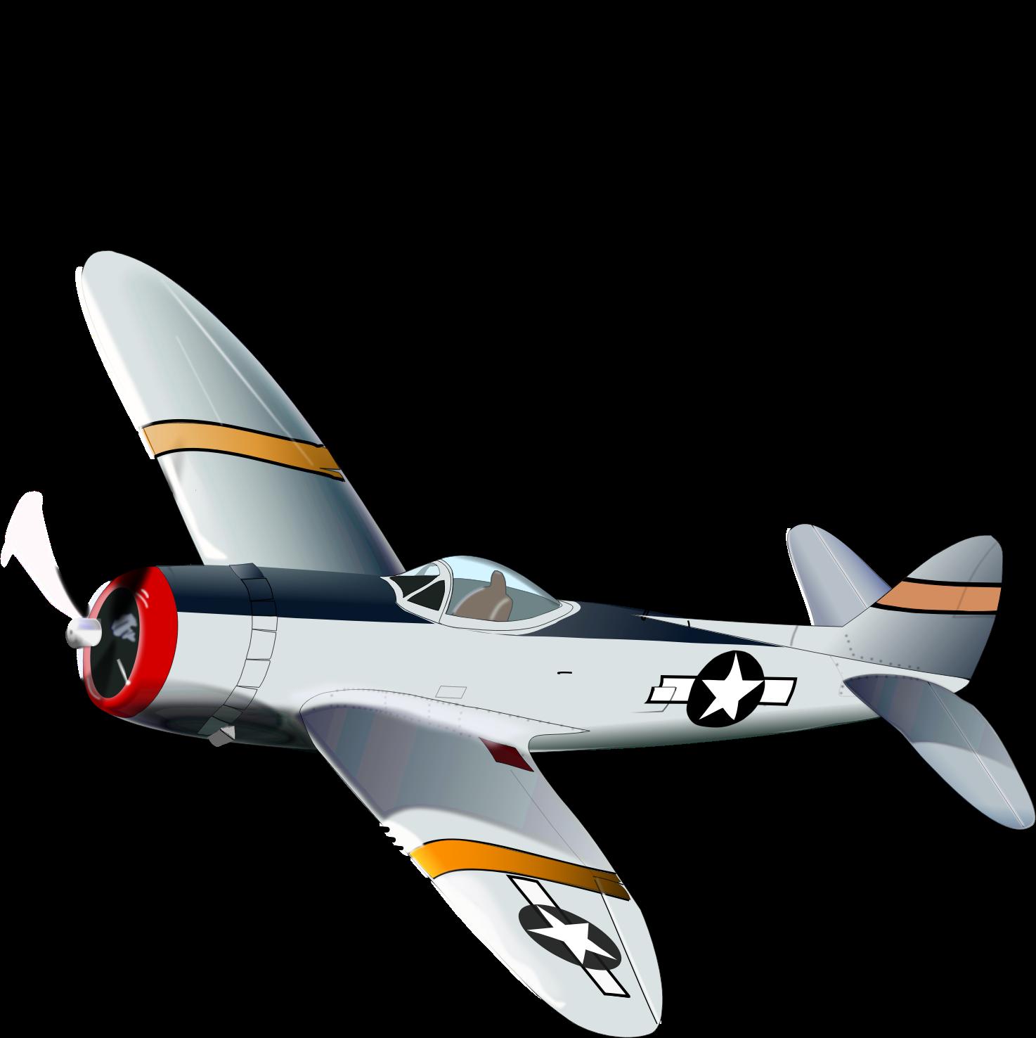 Clipart - P47 Thunderbolt Thunderbolt Clipart