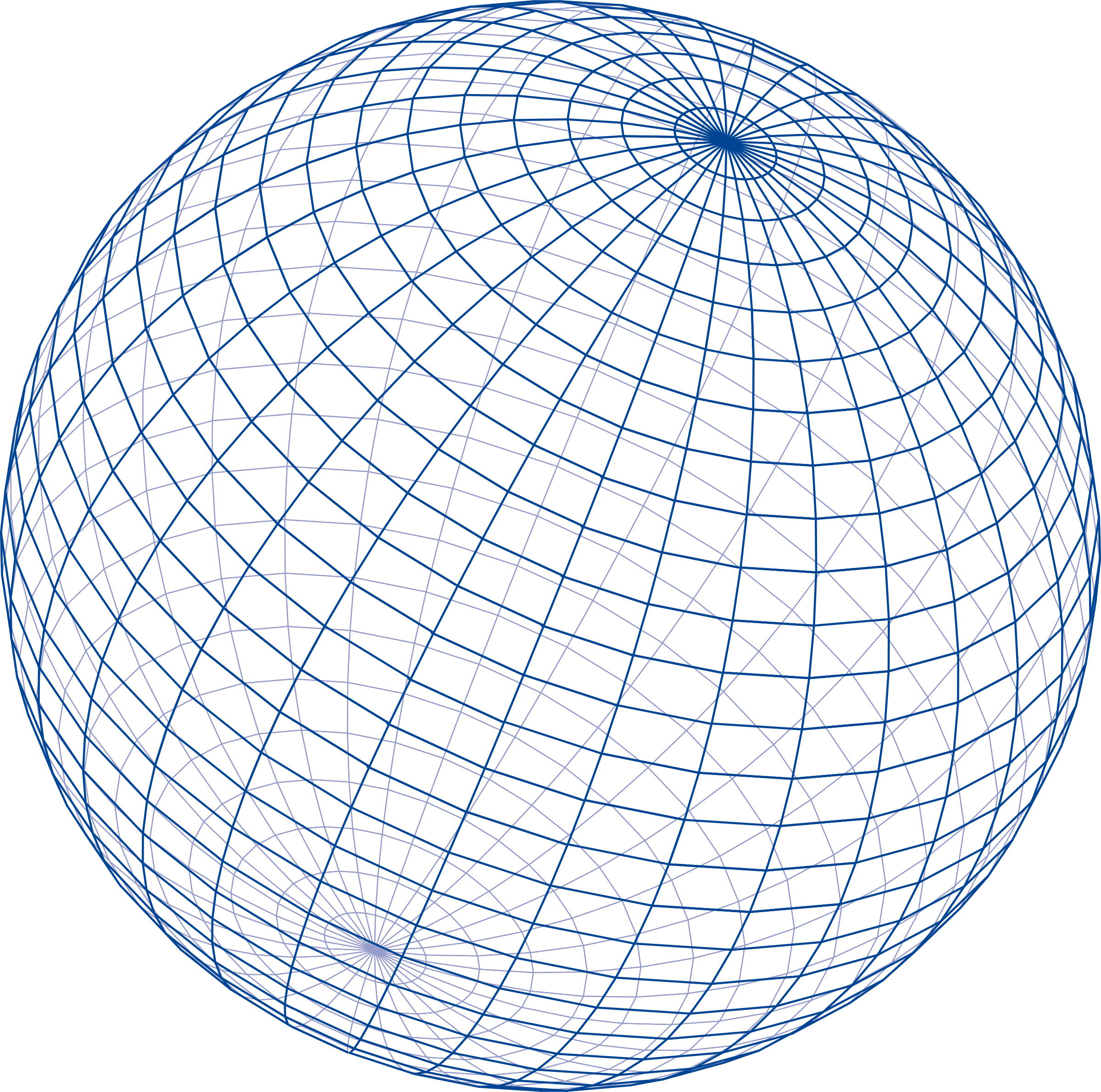 Blue grid sphere by enolynn
