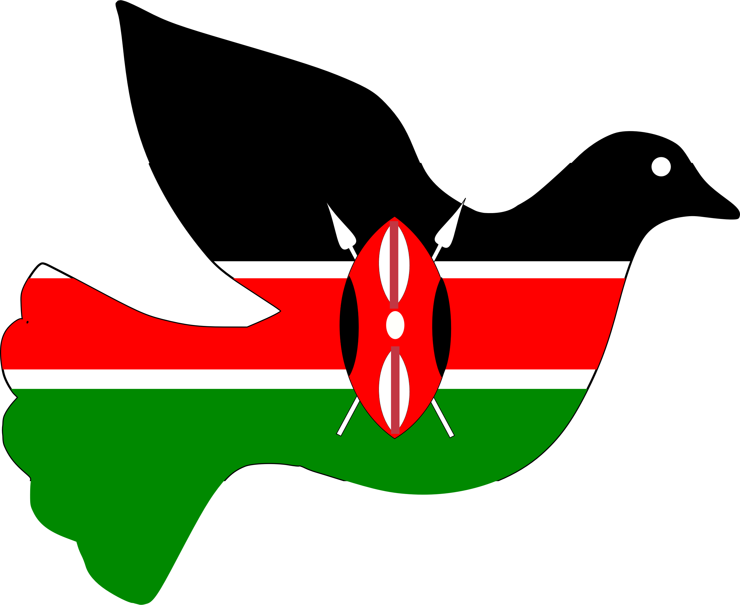 clipart kenya peace dove