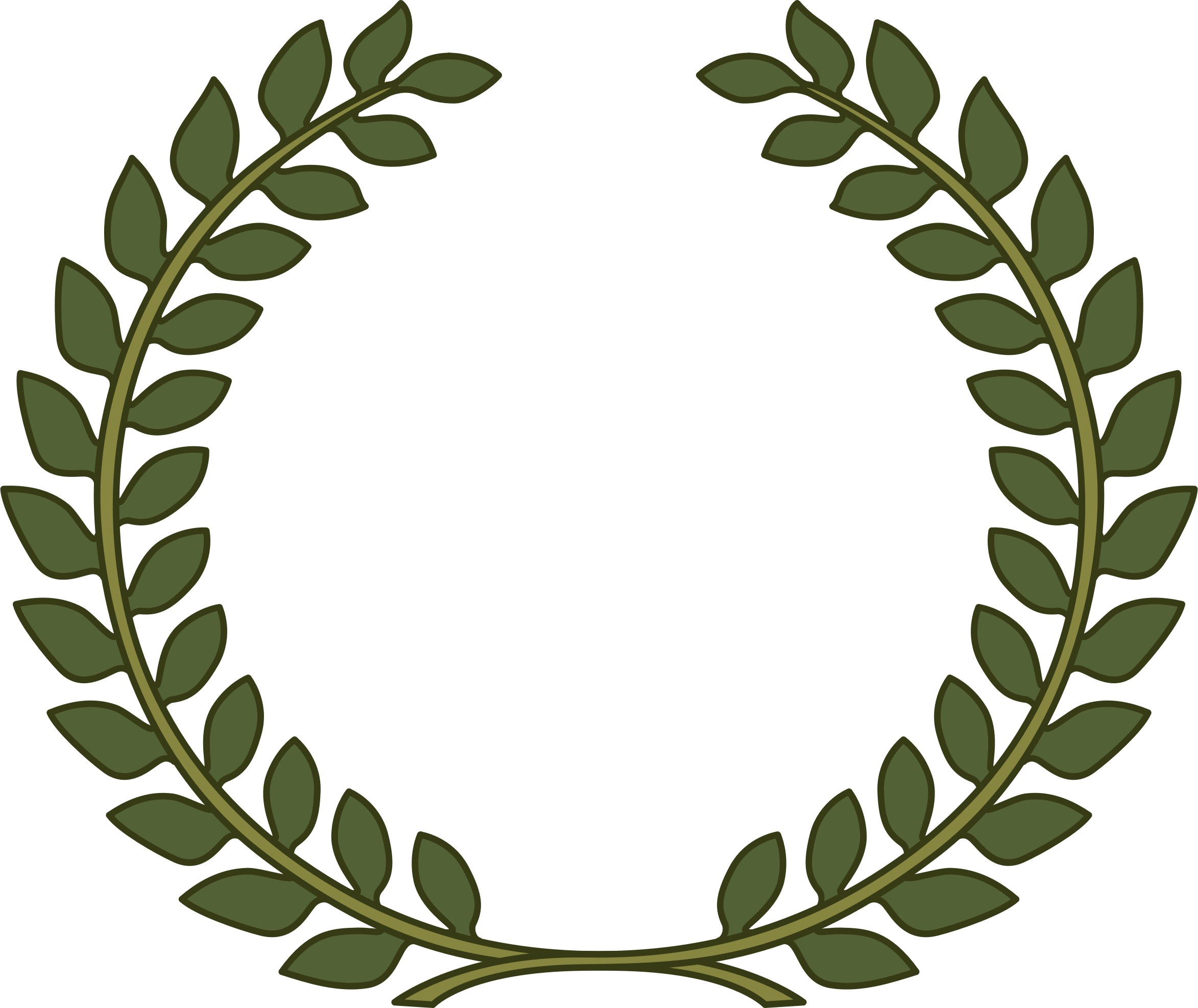Clipart laurel wreath laurel leaf for Laurel leaf crown template