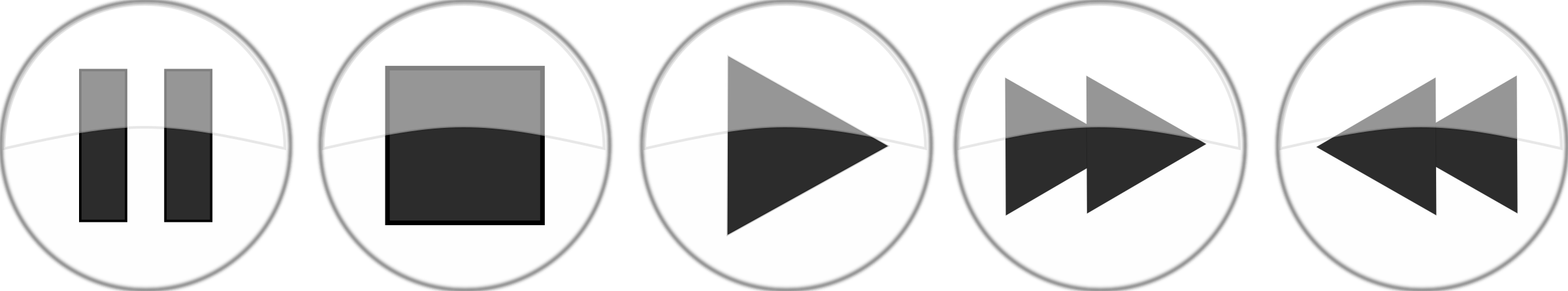Glossy media player buttons by bugmenot