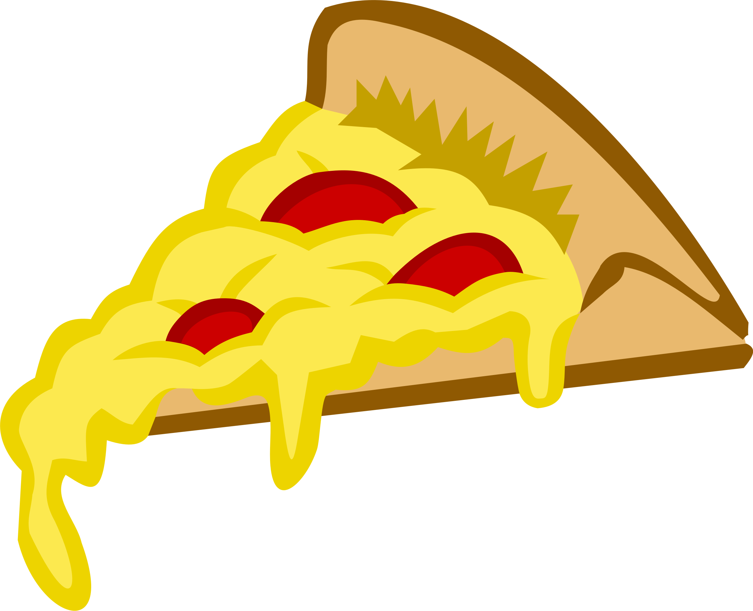 Pizza Slice in Tango Colors by micro_giraffe