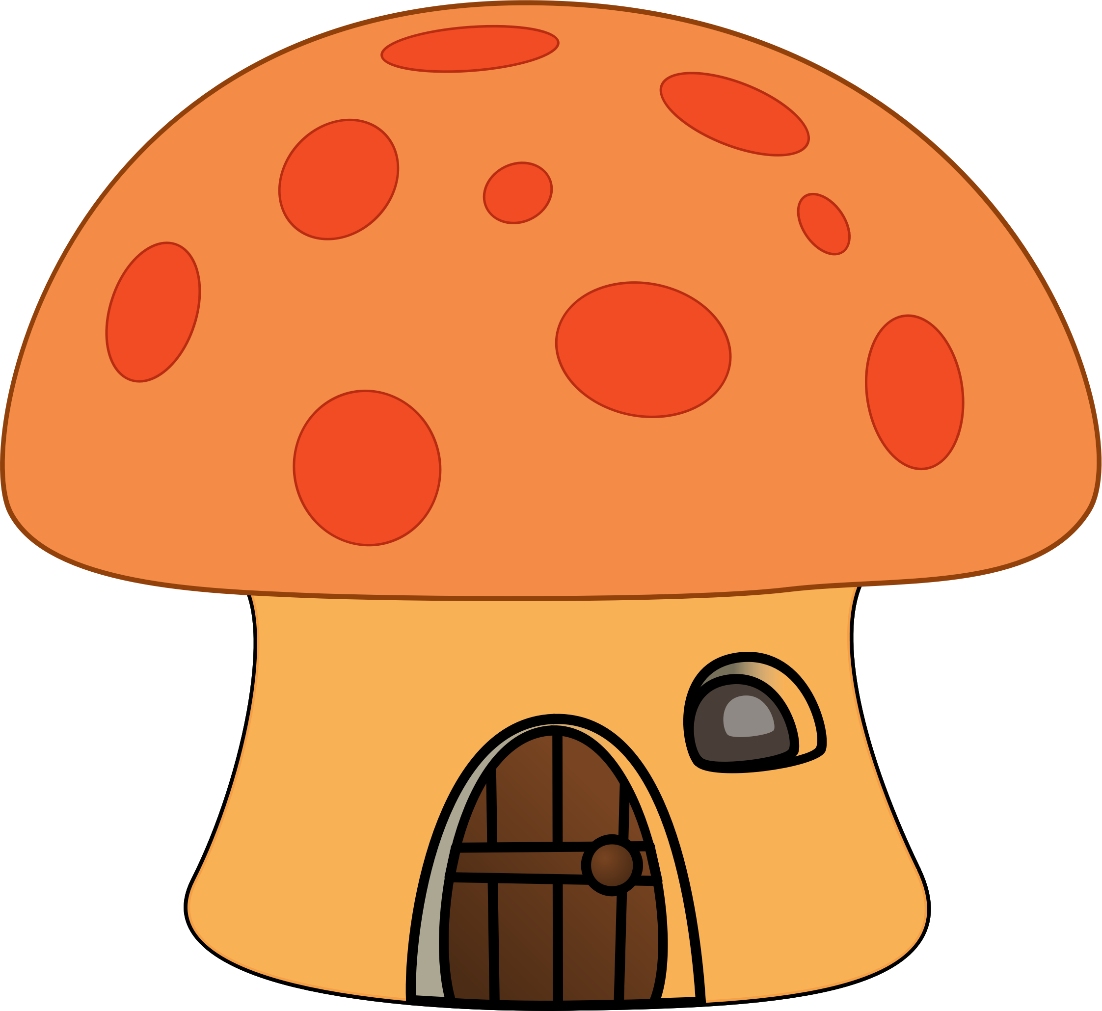 Orange mushroom house by Pippi2011