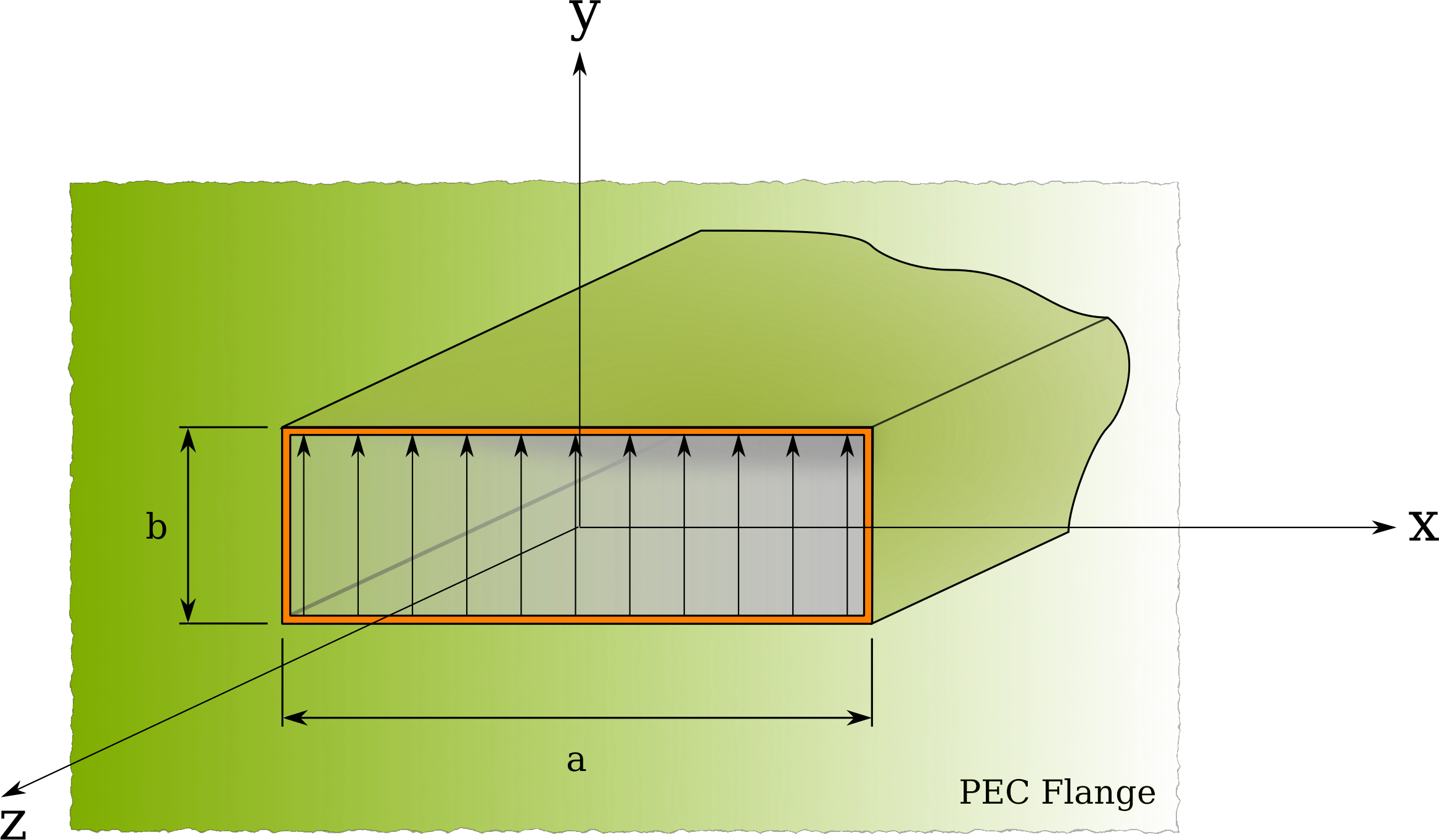 Rectangular Aperture With Flange - Uniform Distribution by zinka