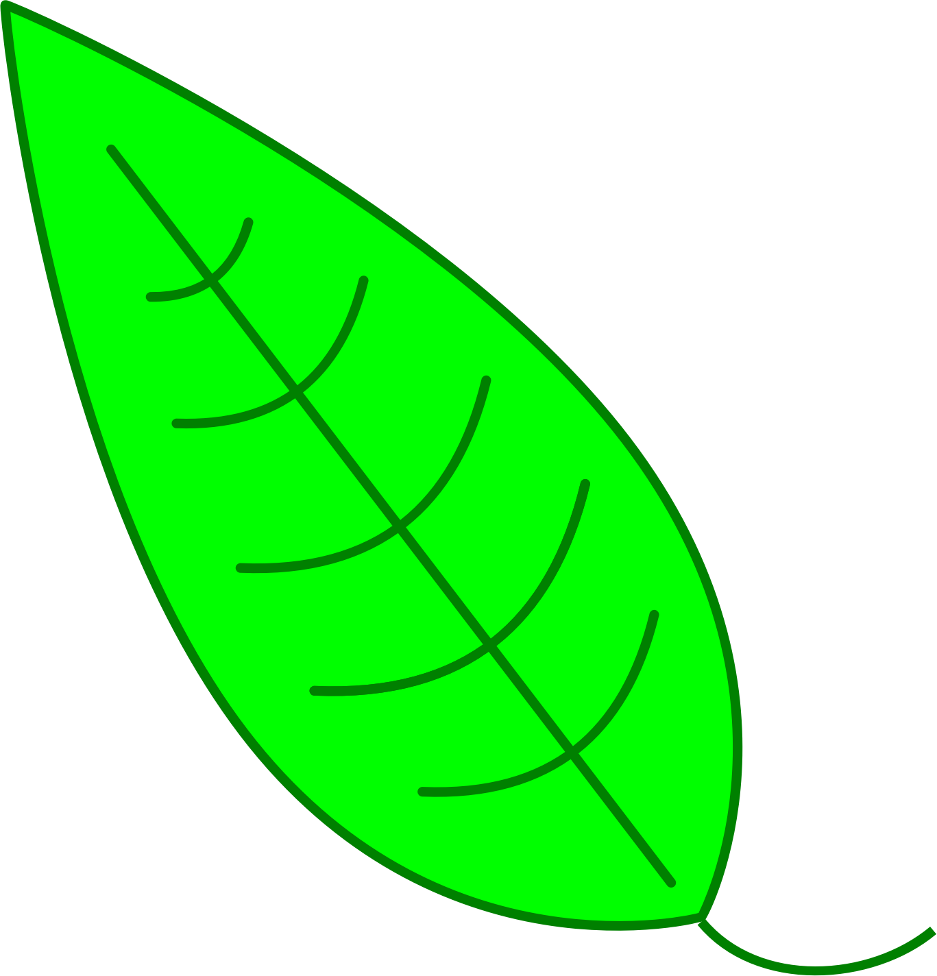 Leaf - Green Simple Leaf by simpletutorials.net