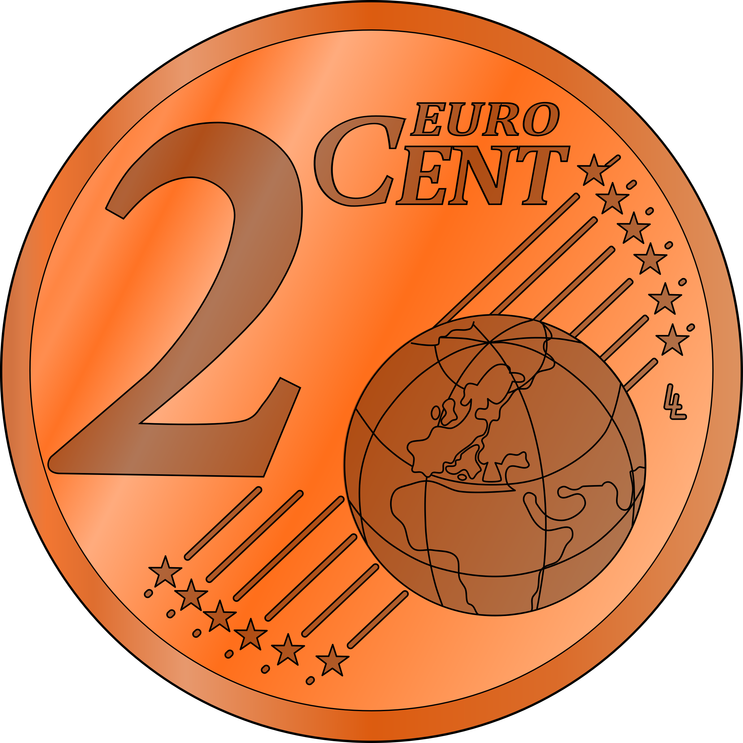 two euro cent by frankes