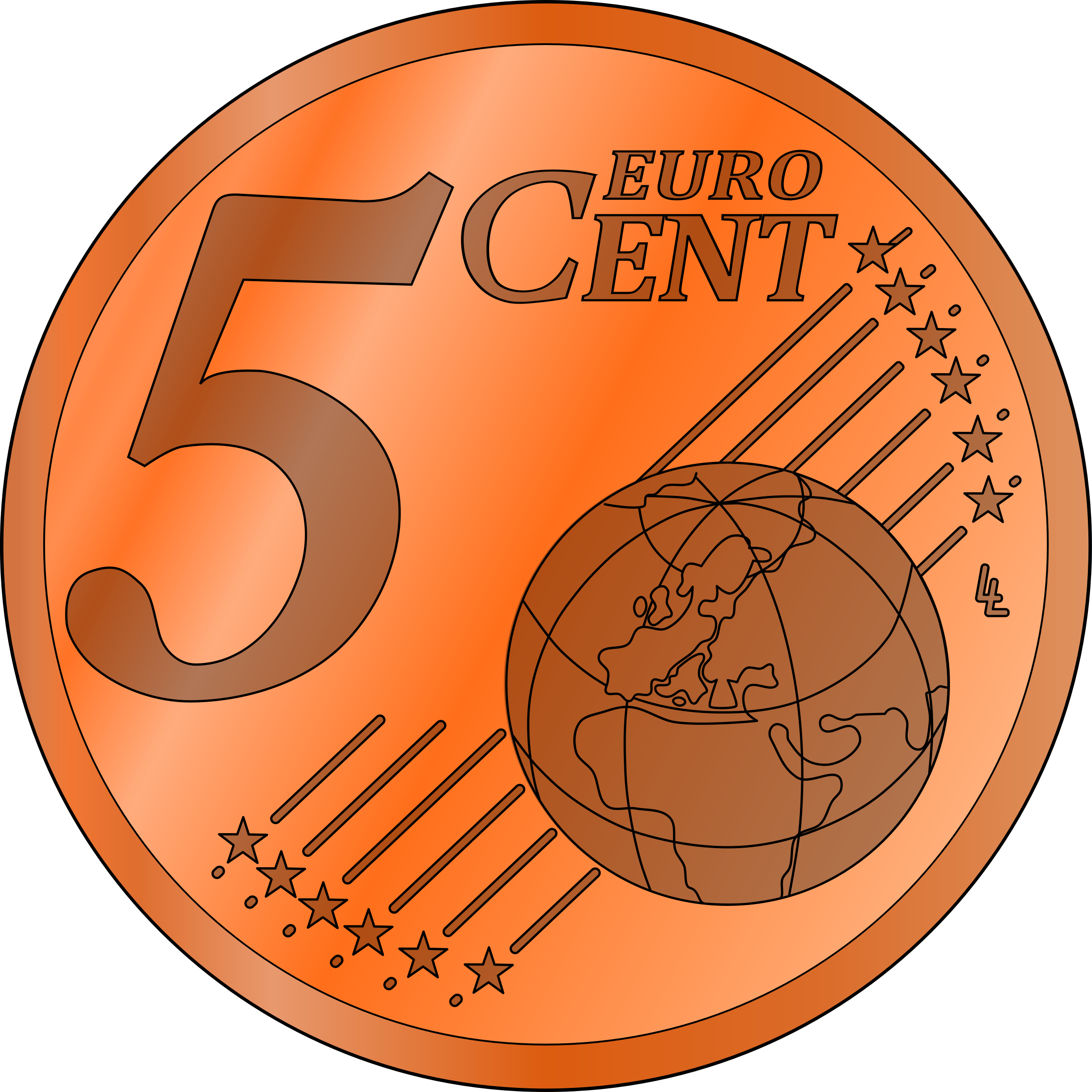 five euro cent by frankes