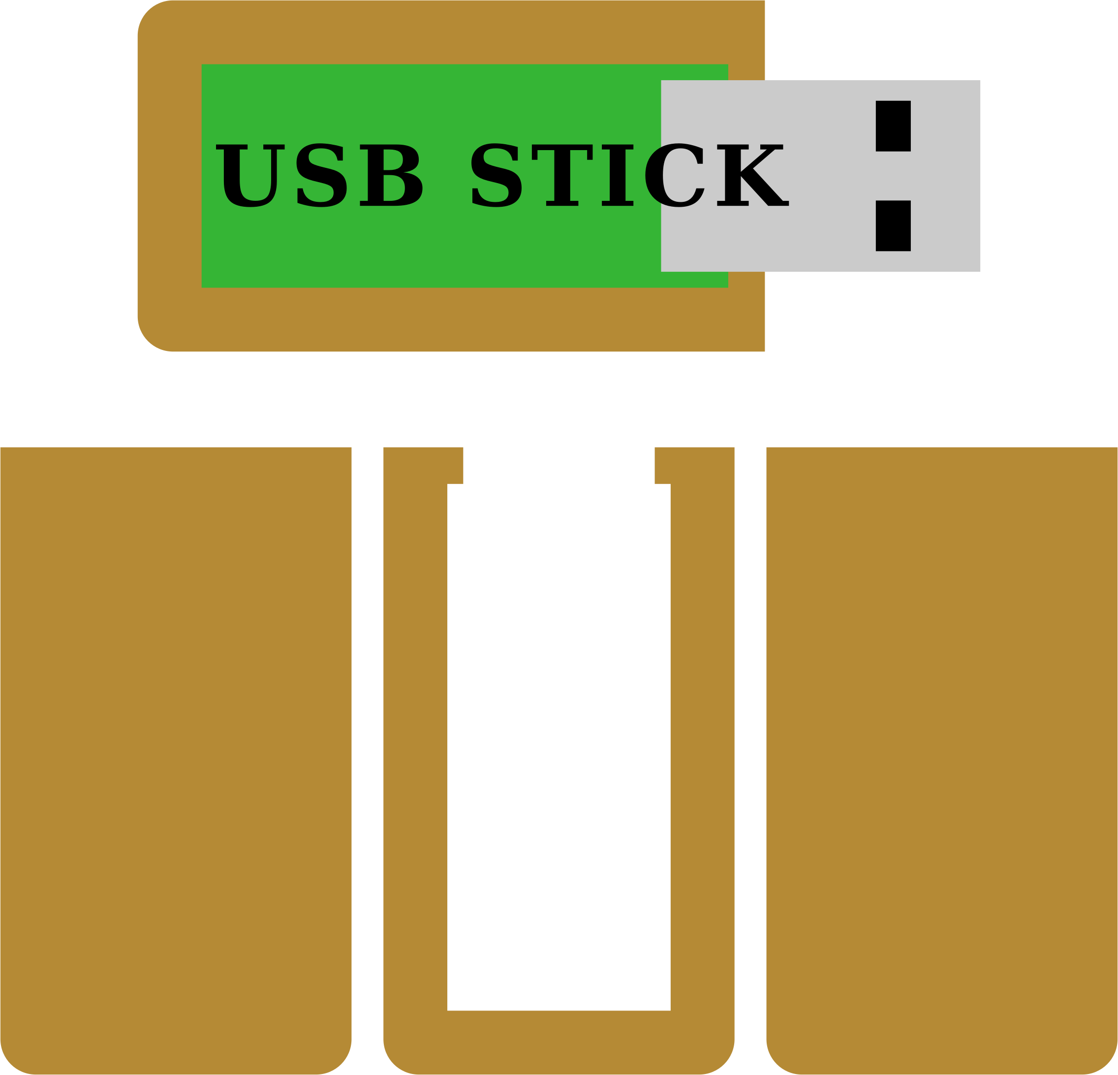 USB Stick, original size for own wooden casing by JOhannski