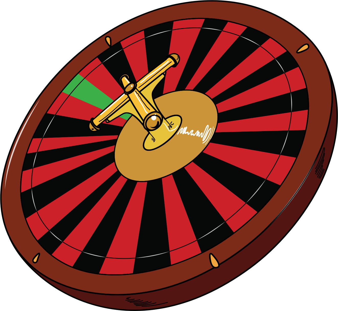 Roulette Wheel by casino