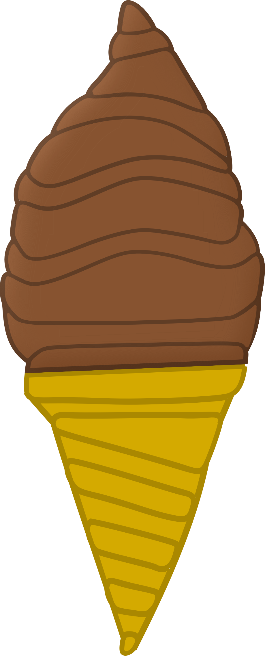 Chocolate Ice Cream Cone by Arvin61r58