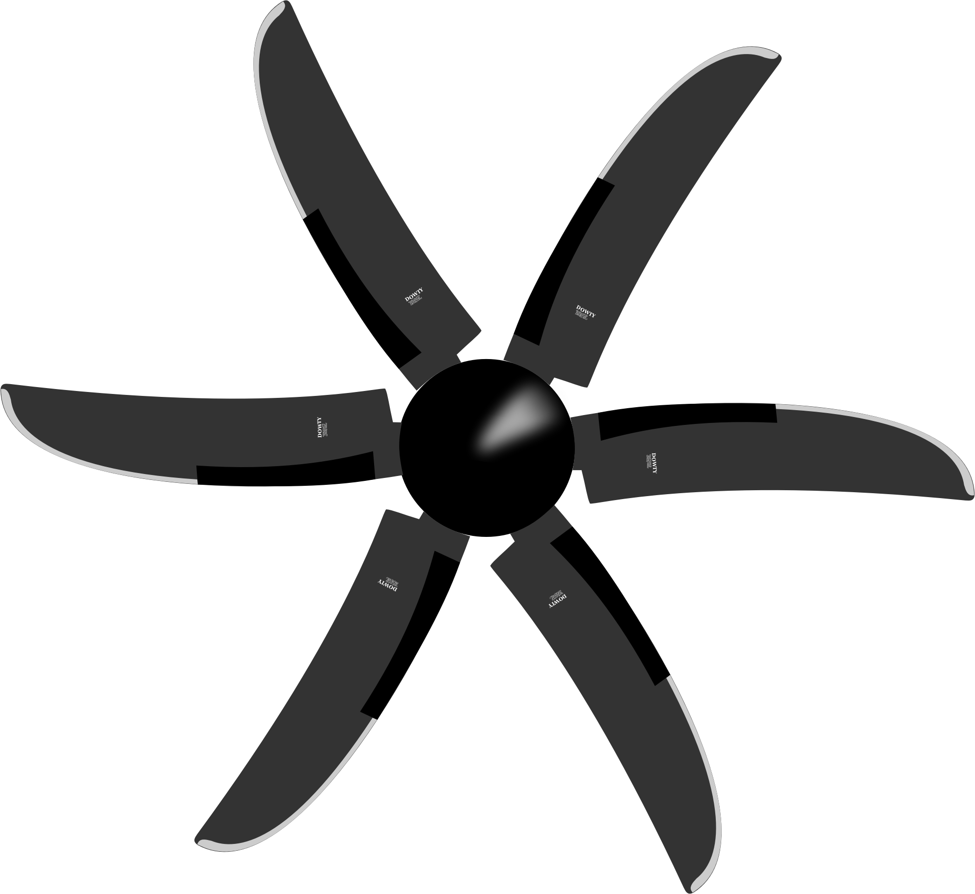 Clipart Dowty 6 Blade Propeller