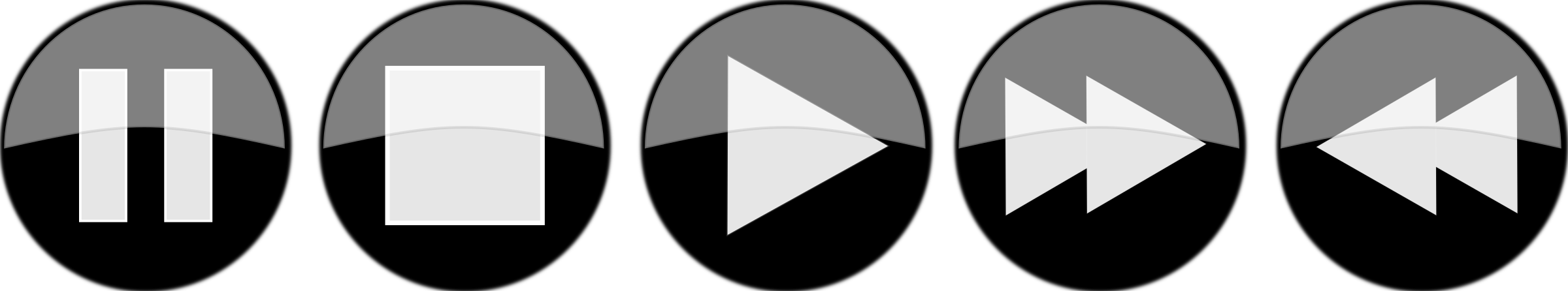 Glossy media player buttons - Inverted by portablejim