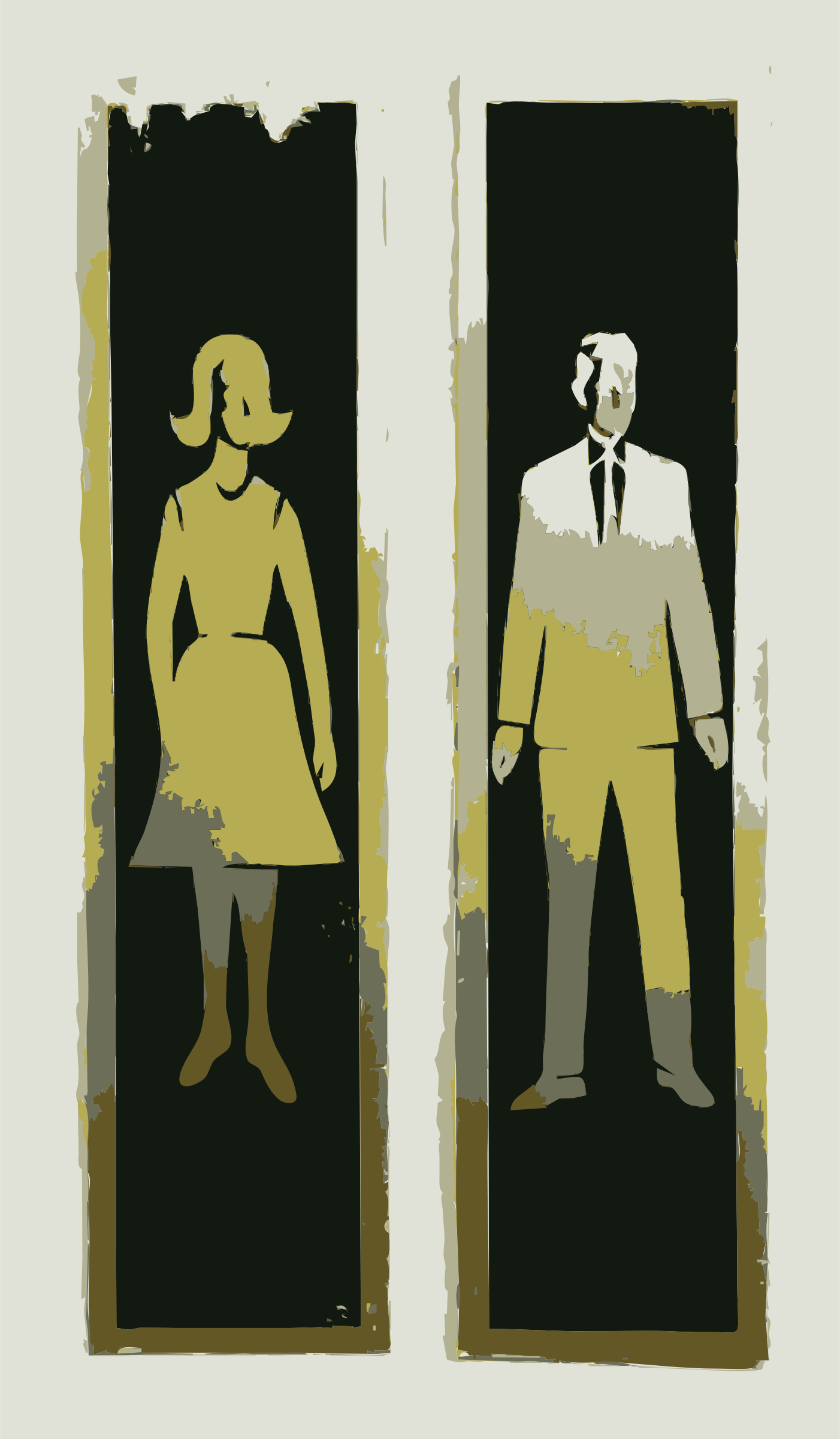 Bathroom Sign Man And Woman clipart - man and woman bathroom sign