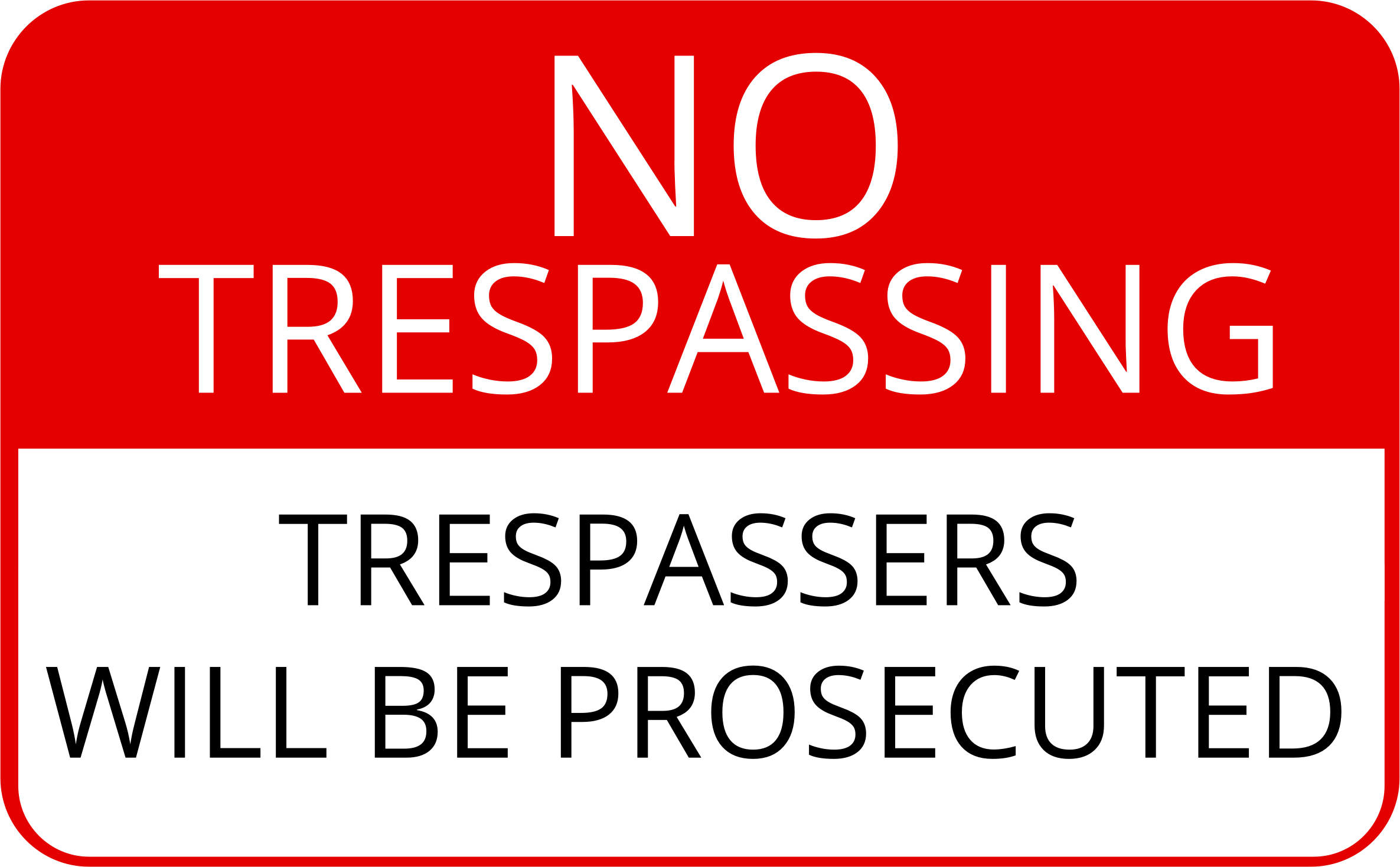 No Trespassing Sign by cinemacookie