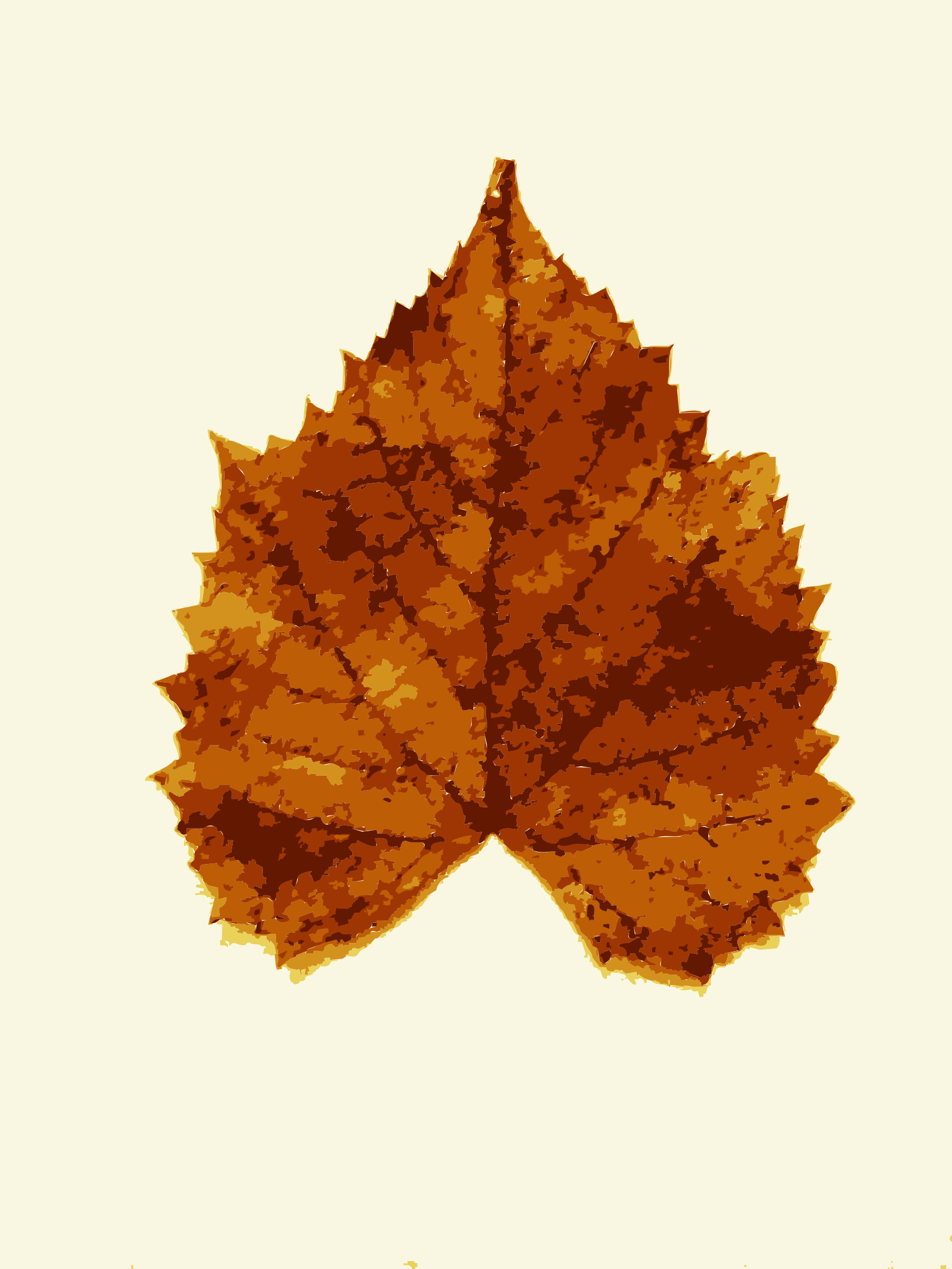 Clipart Fall leaves from Missouri trees 3