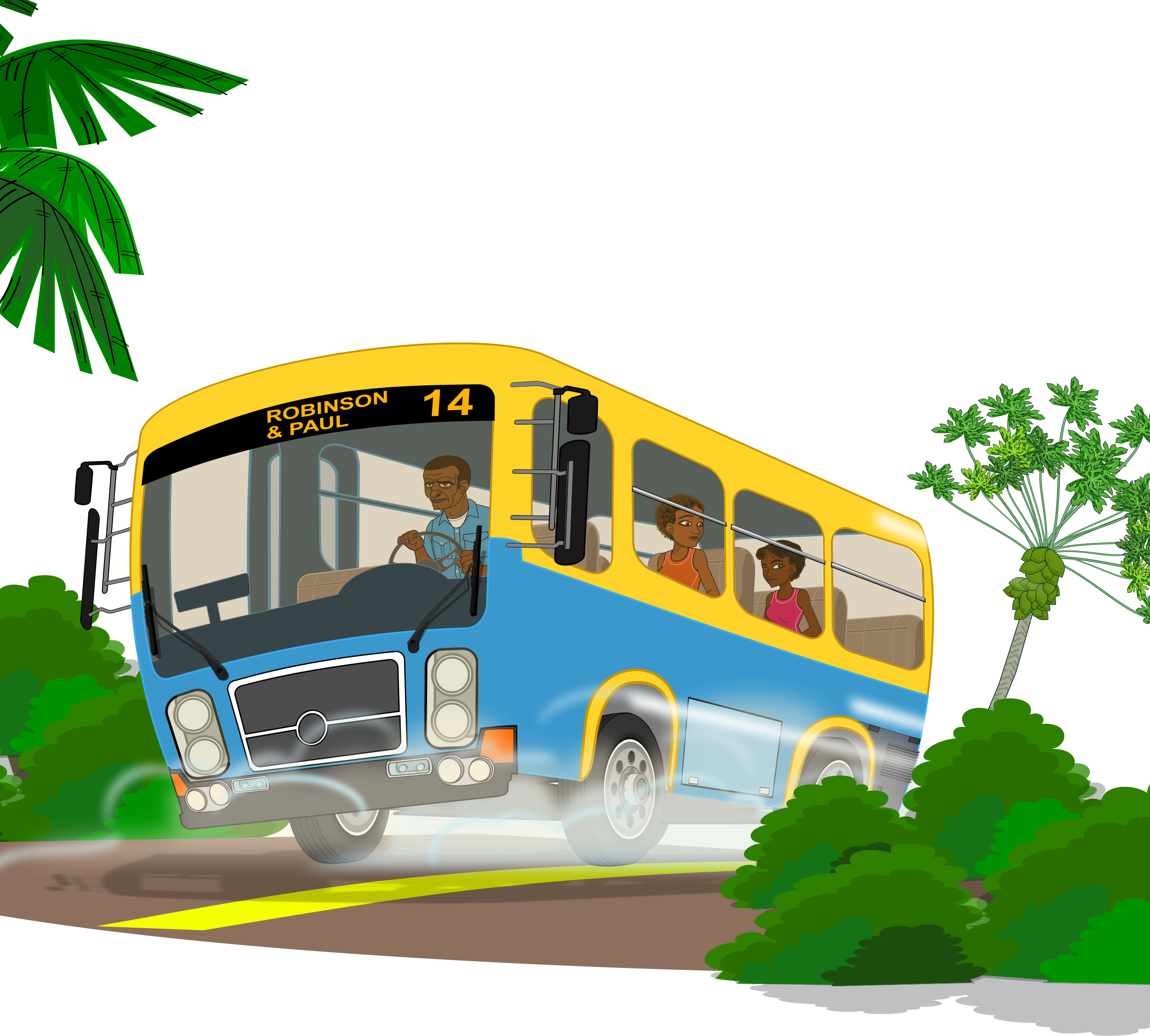 Island school bus by Markacio