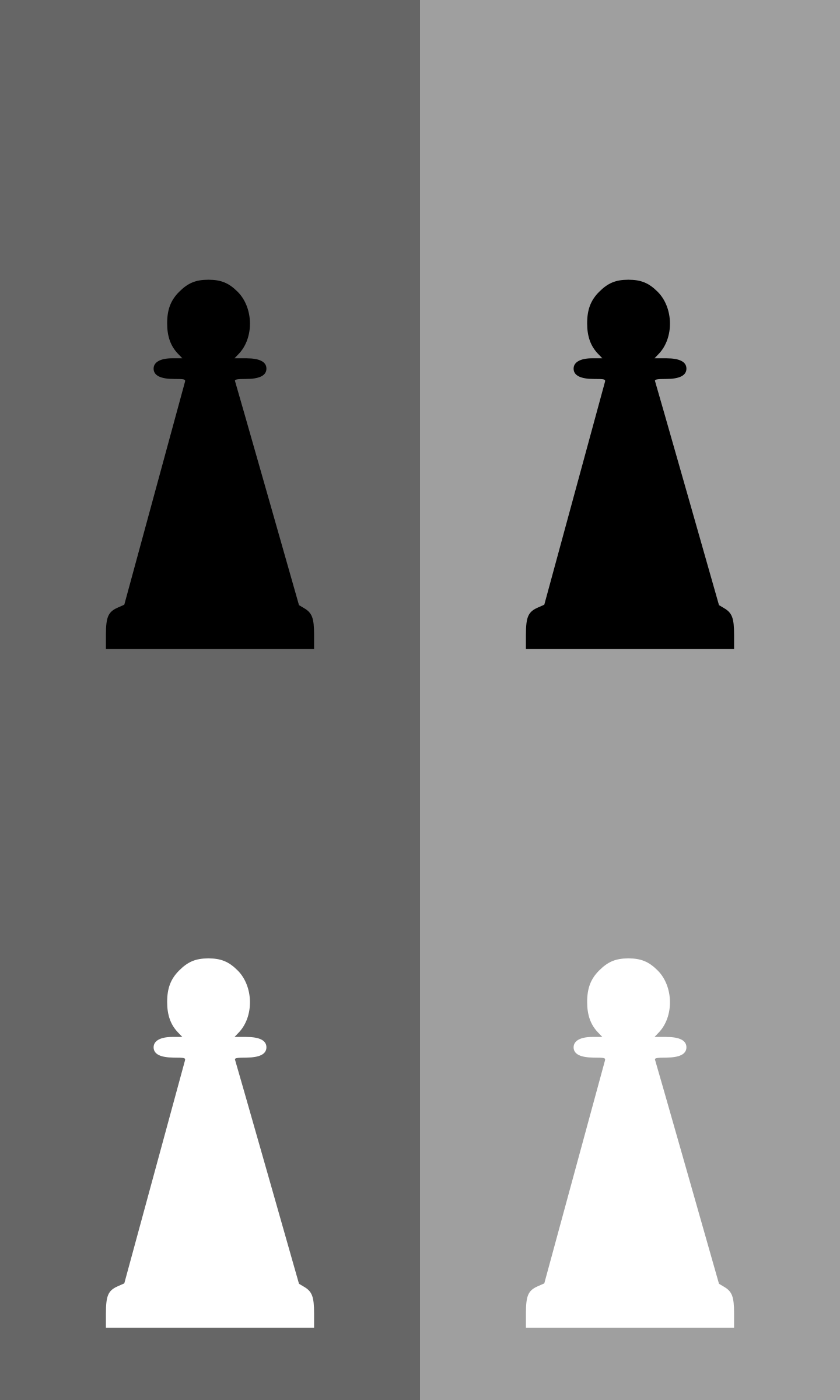 2D Chess set - Pawn by portablejim