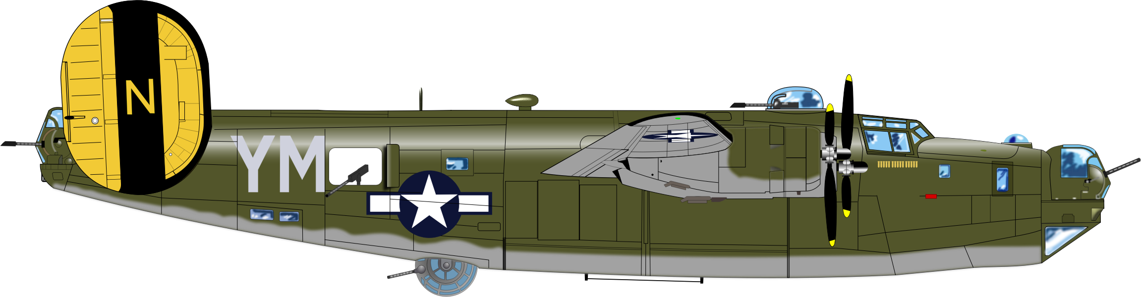 B-24 J BOMBER by charner1963