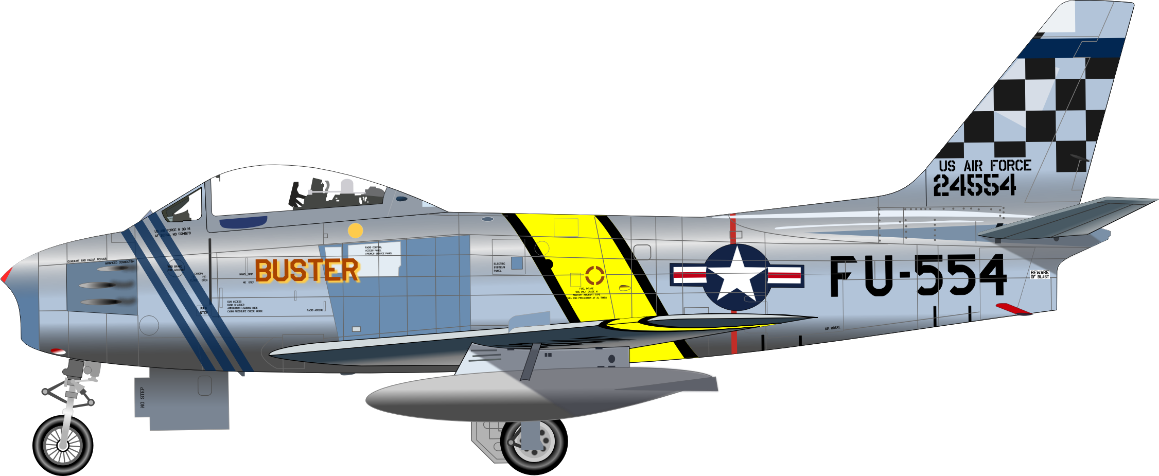 F-86F FIGHTER by charner1963