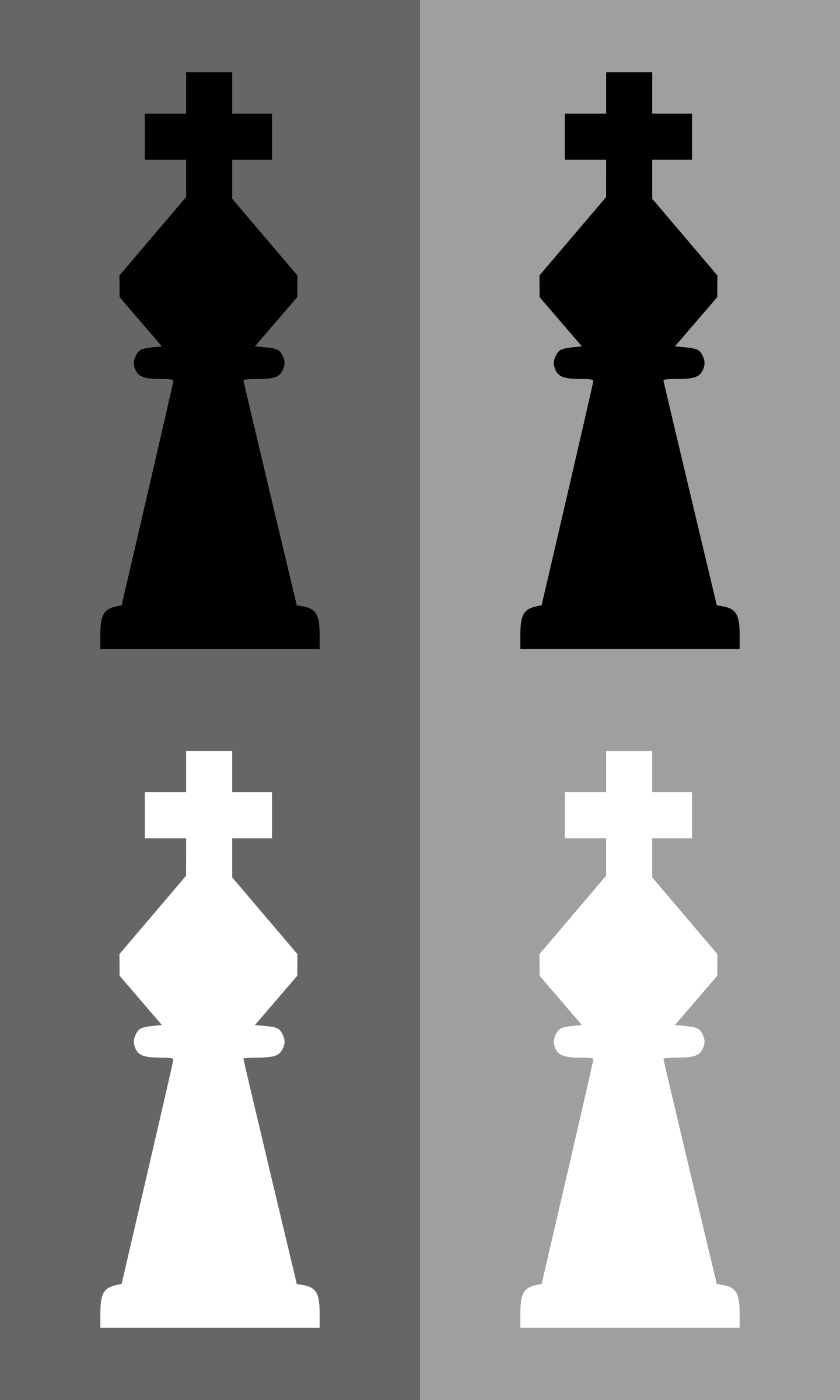 2D Chess set - King by portablejim