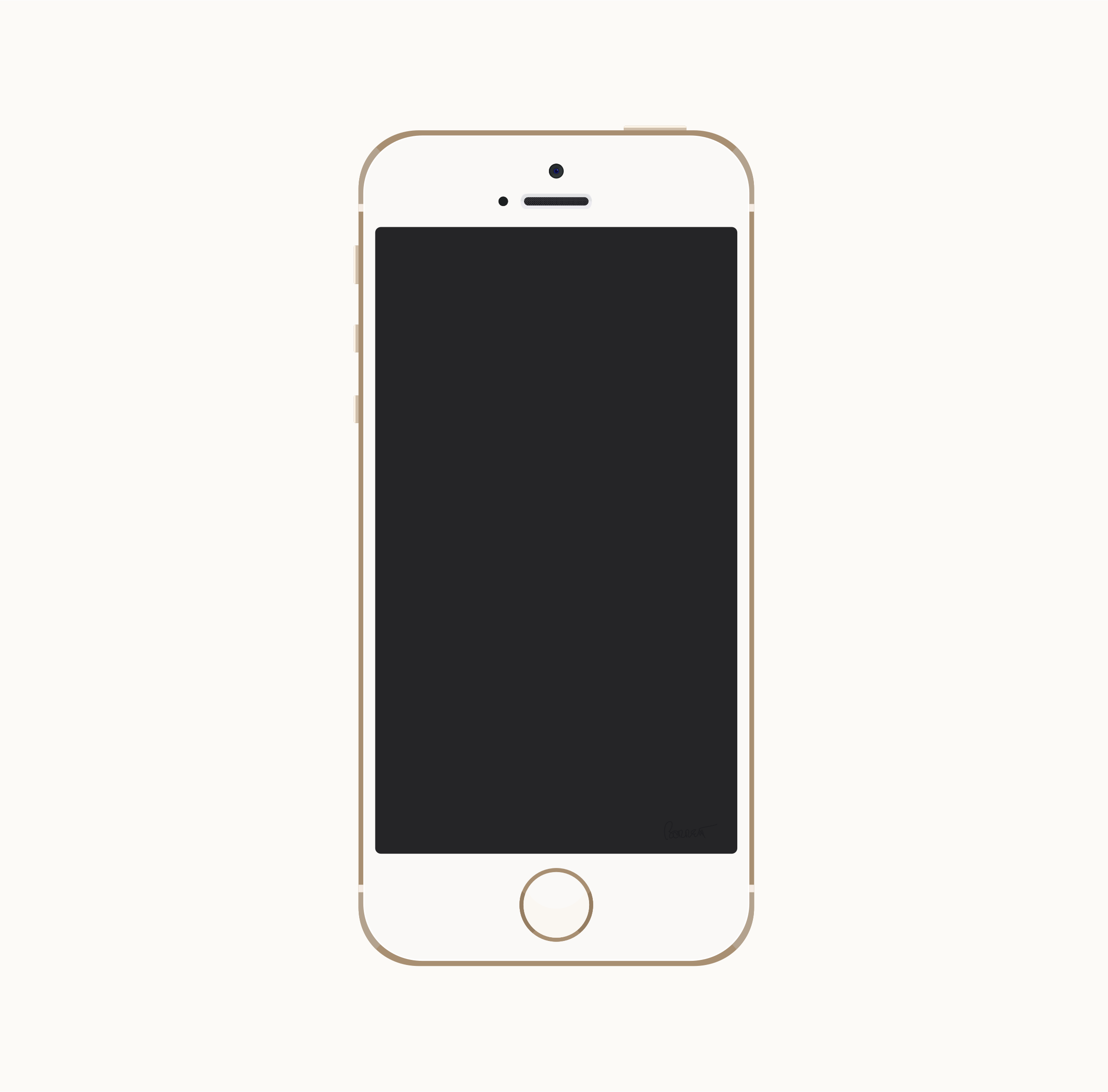 clipart gold iphone 5s