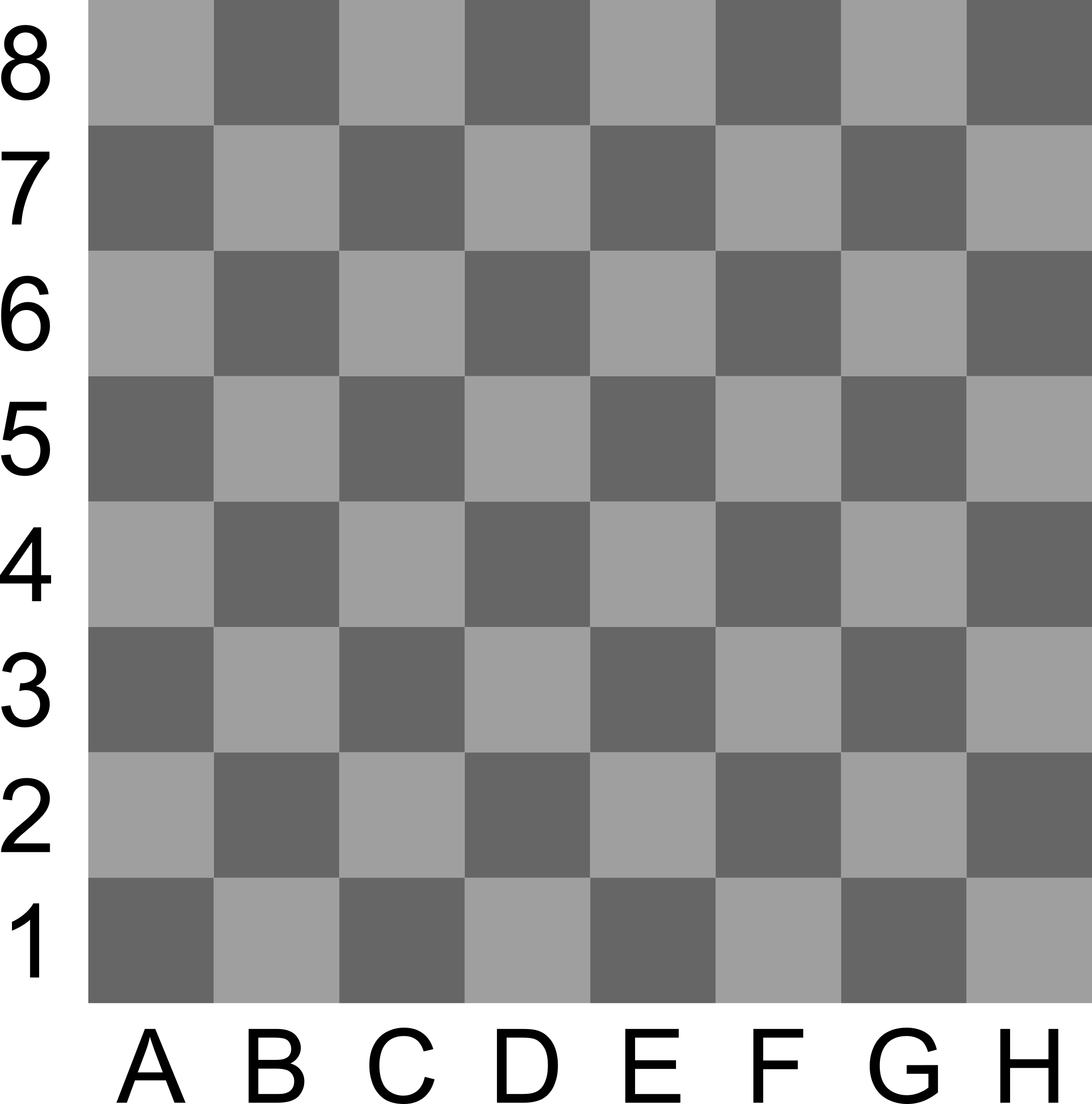 2D Chess set - Chessboard 3 by portablejim