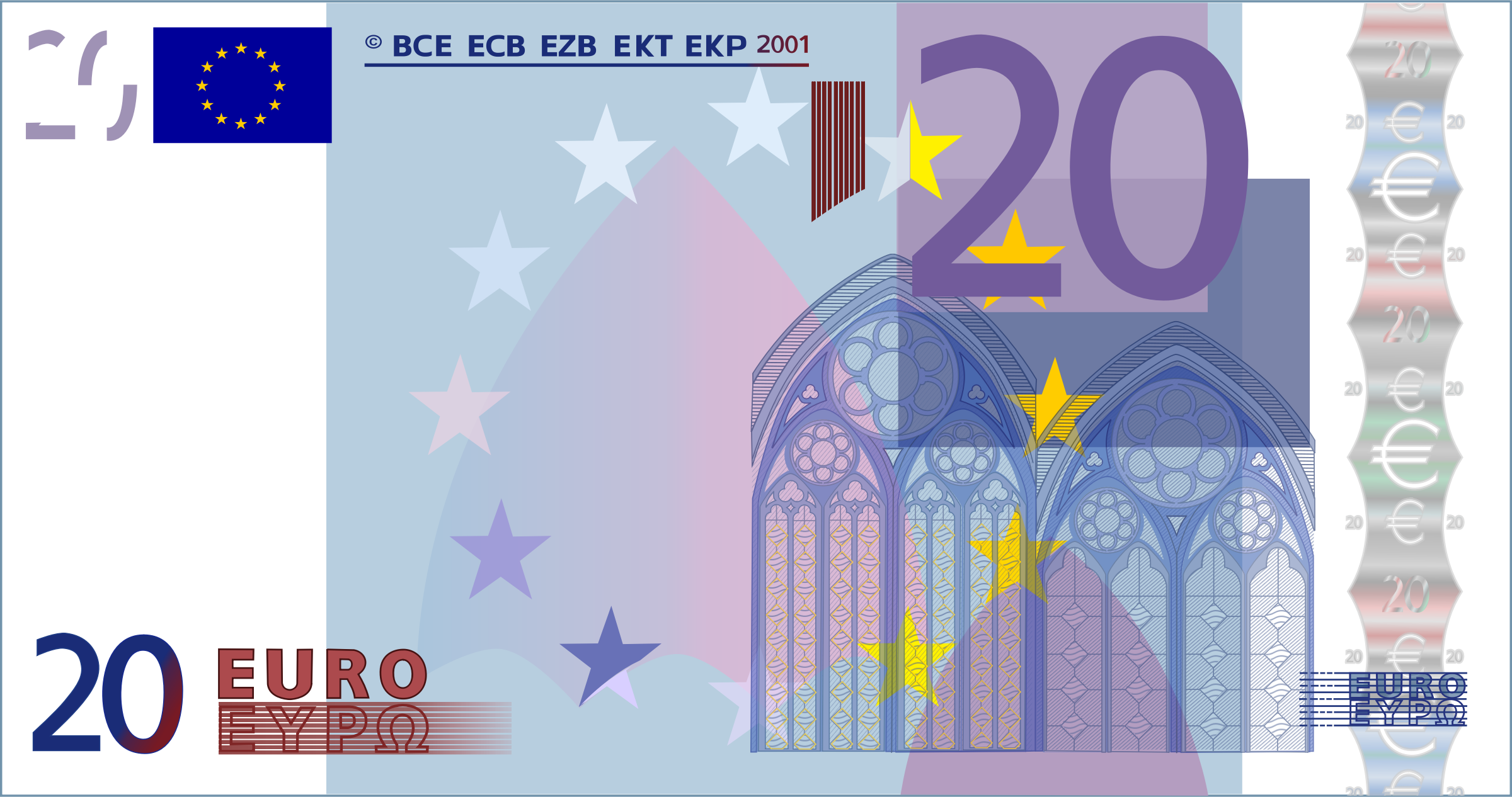 20 Euro Note by frankes