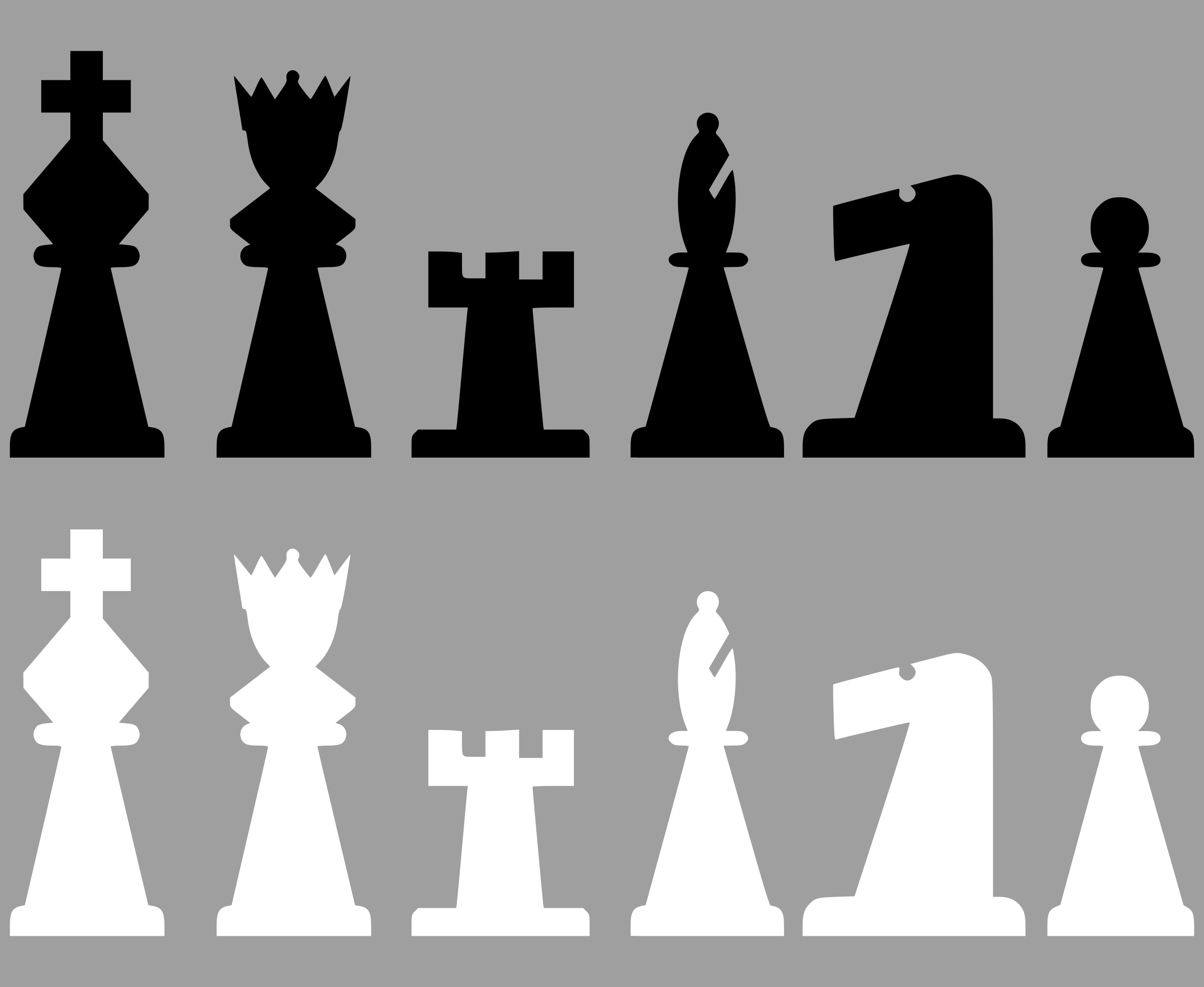 2D Chess set - Pieces 2 by portablejim