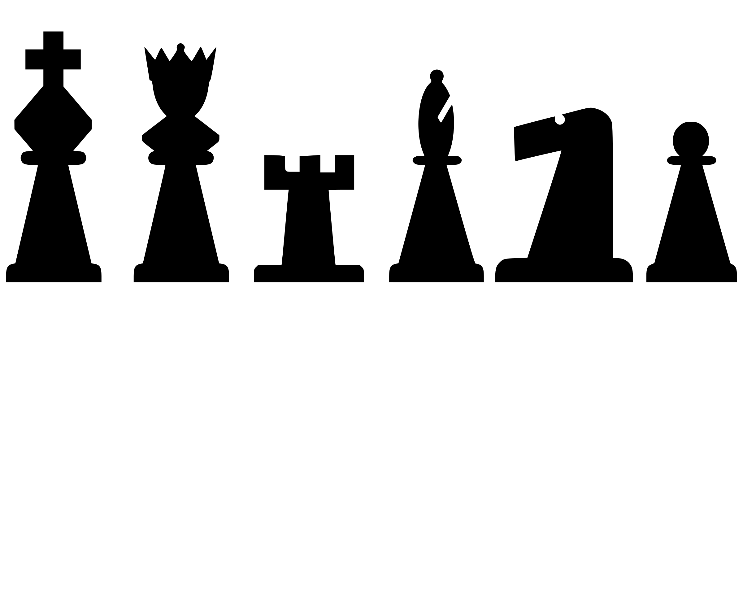 2D Chess set - Pieces 3 by portablejim