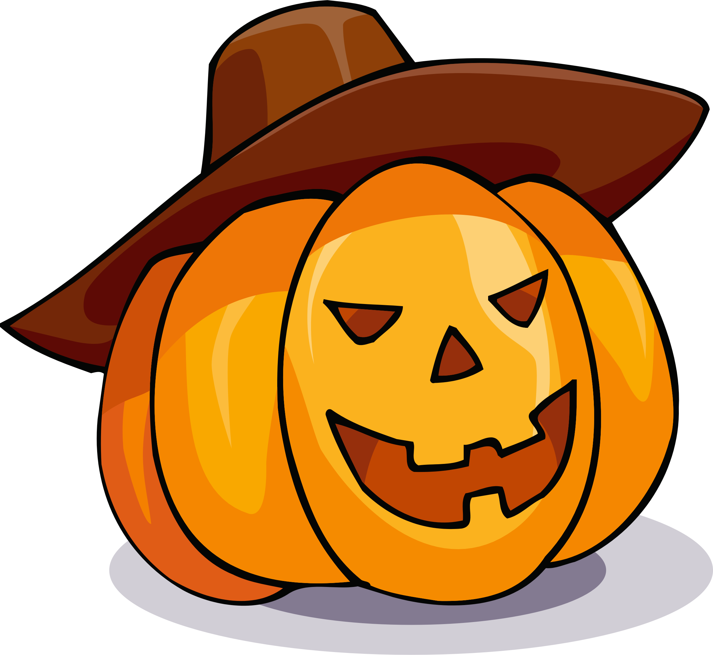 Pumpkin in a hat by Magnesus