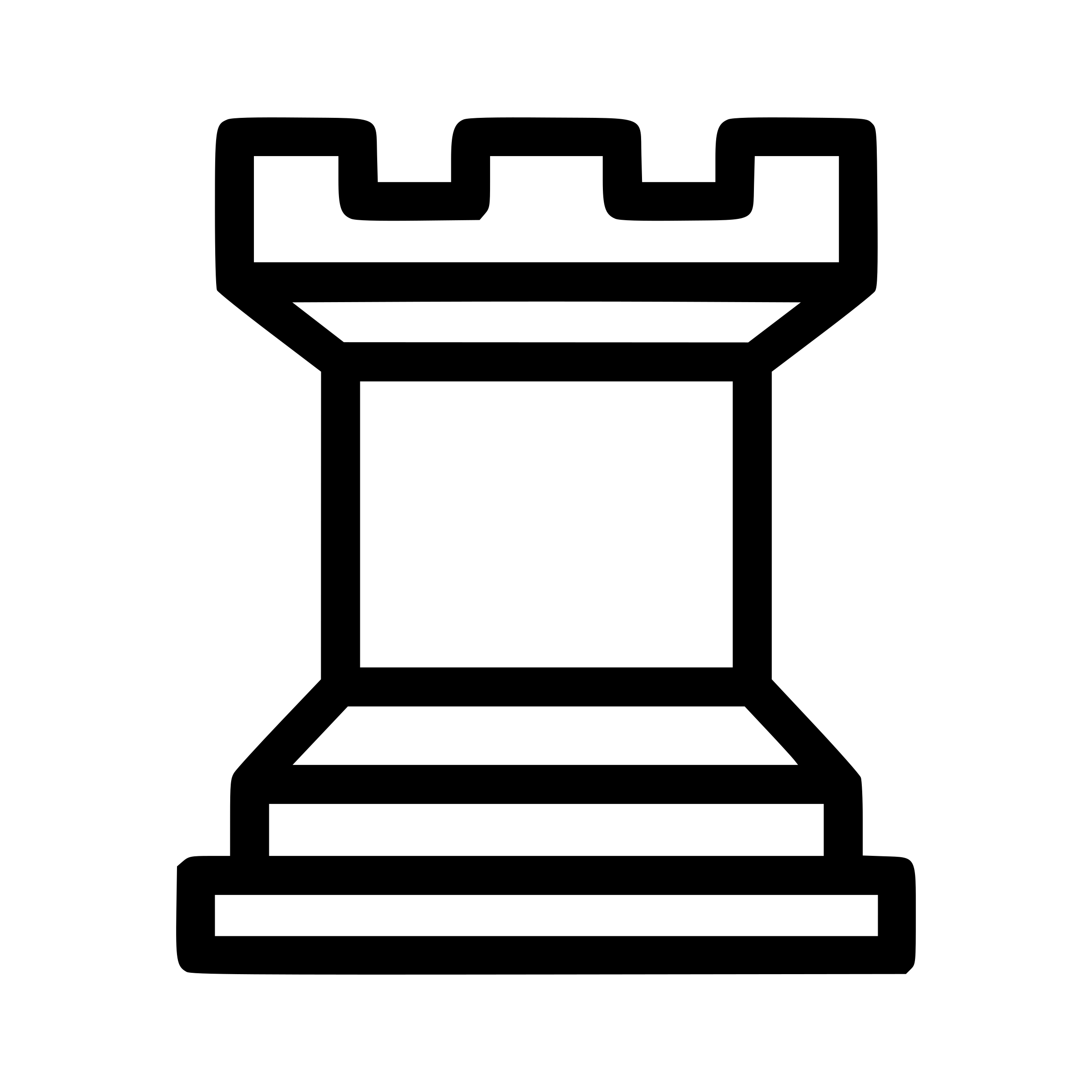 Chess tile - Rook 3 by portablejim