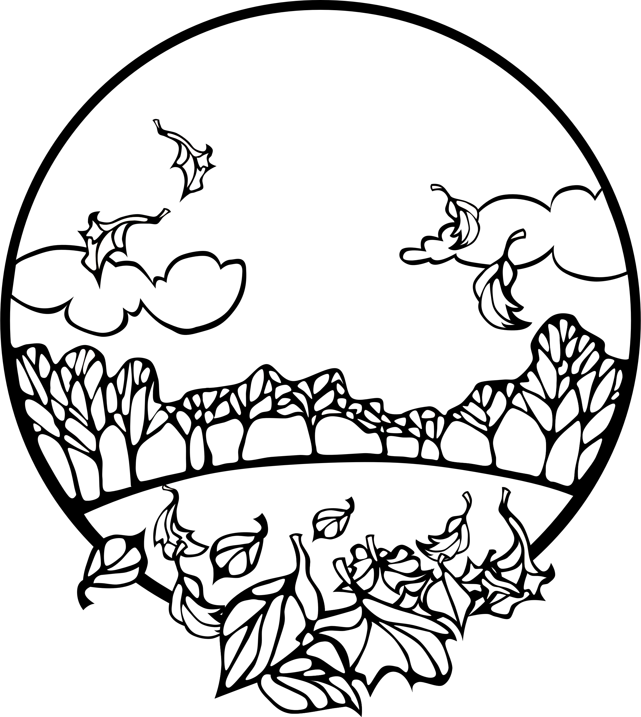 fall scenes coloring pages - photo#20