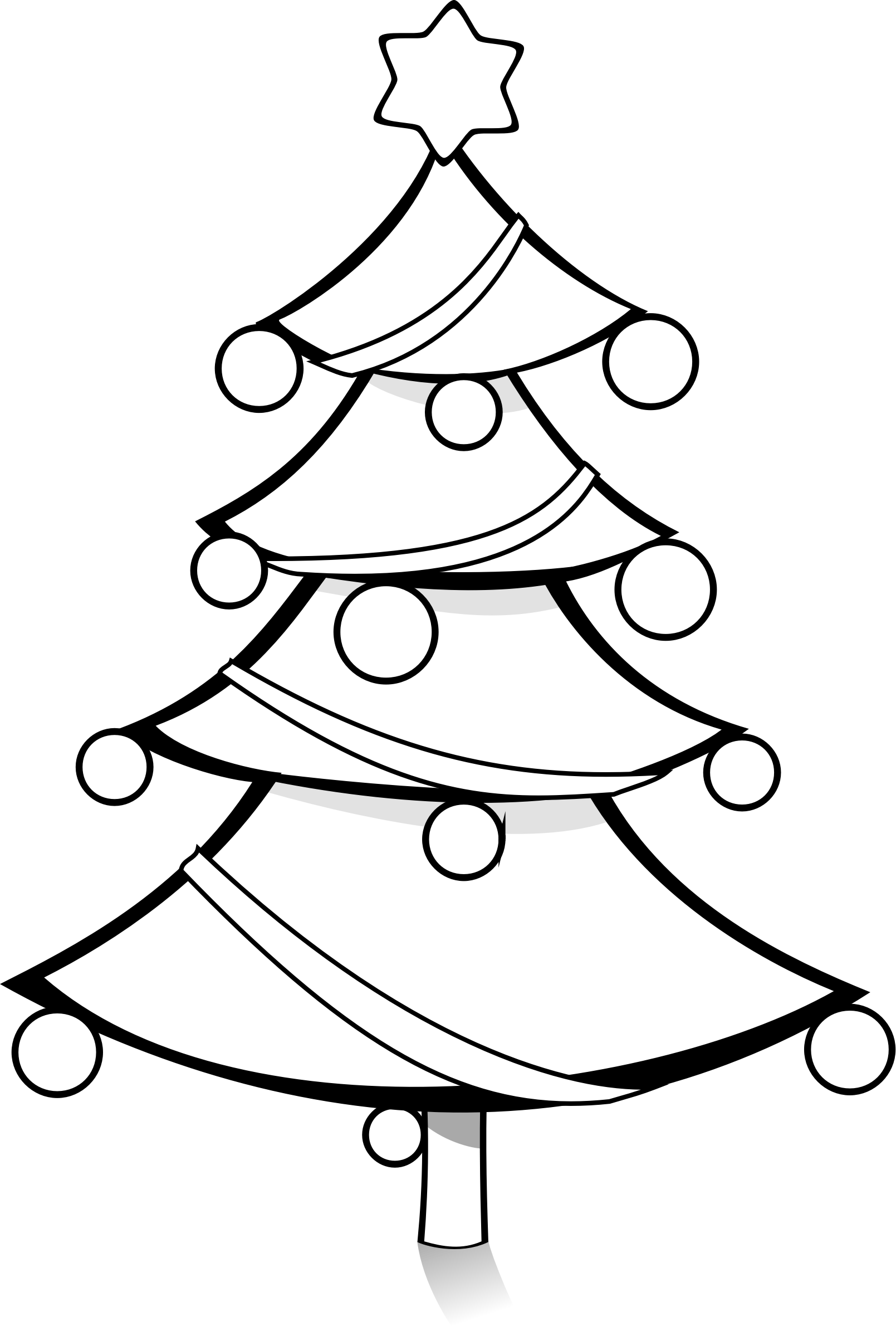 Clipart - Christmas Tree Coloring Page